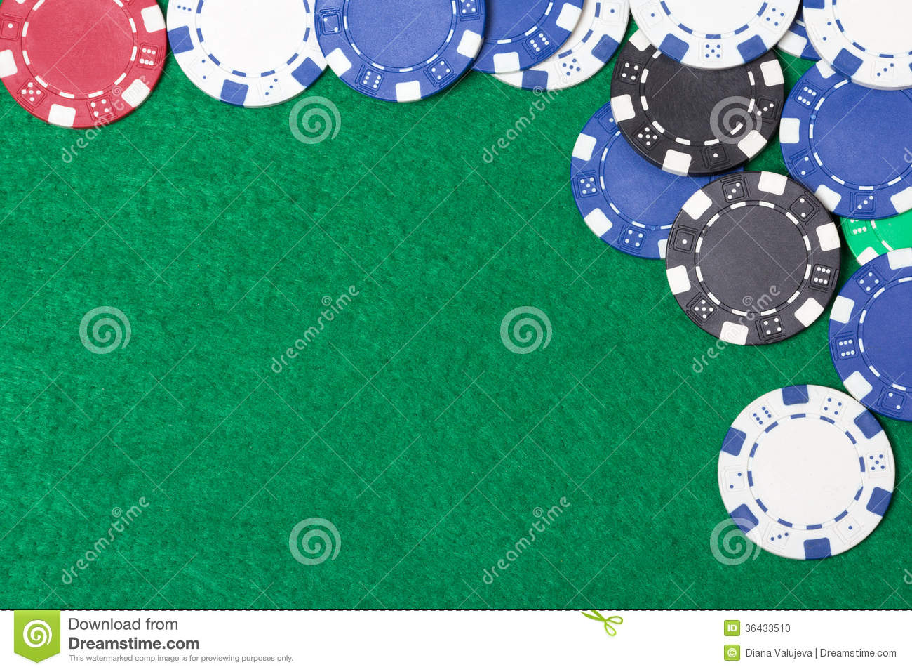 Poker table background - Background Casino Chips Green Poker Table