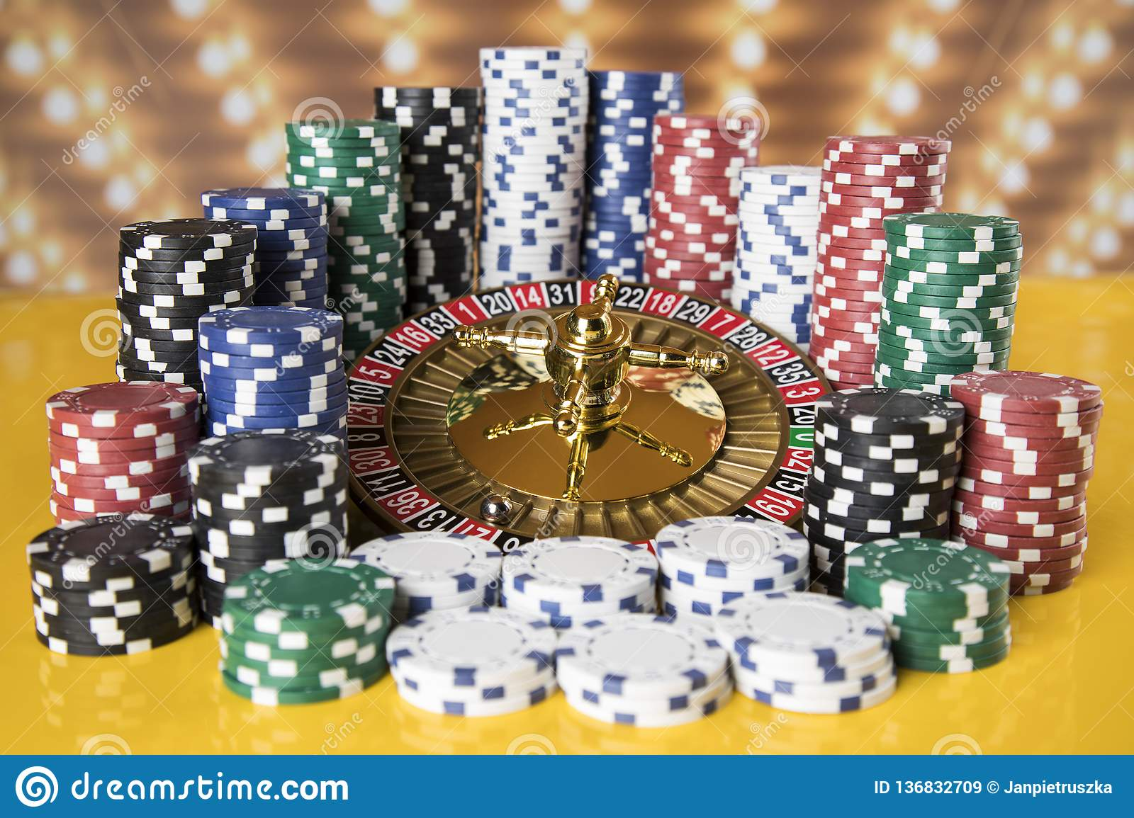 Poker Chips Roulette Wheel In Motion Casino Background Stock Image Image Of Number Entertainment 136832709