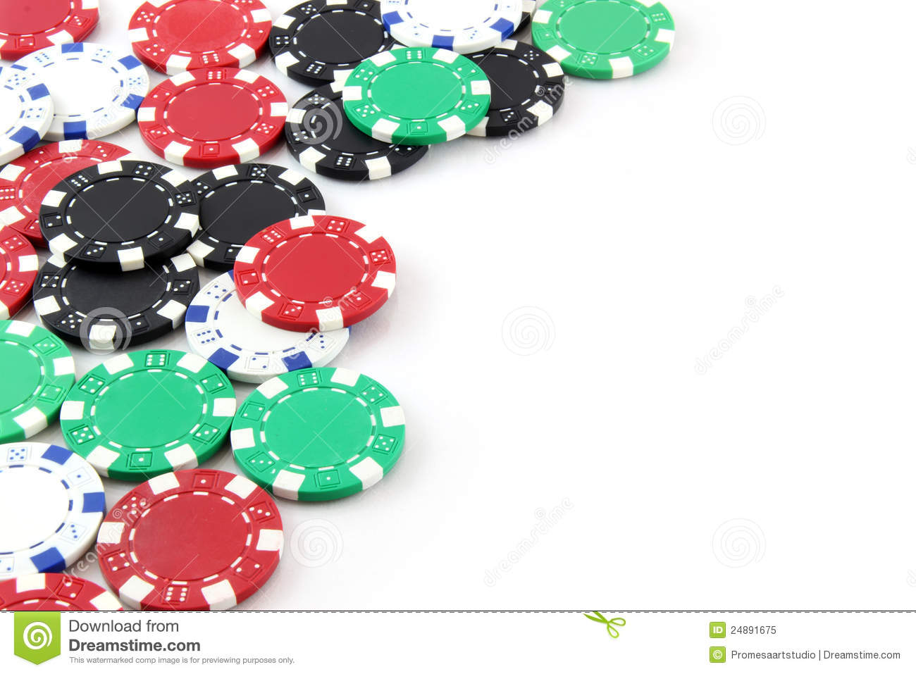 Poker Chips On White Background Royalty Free Stock Photo ...