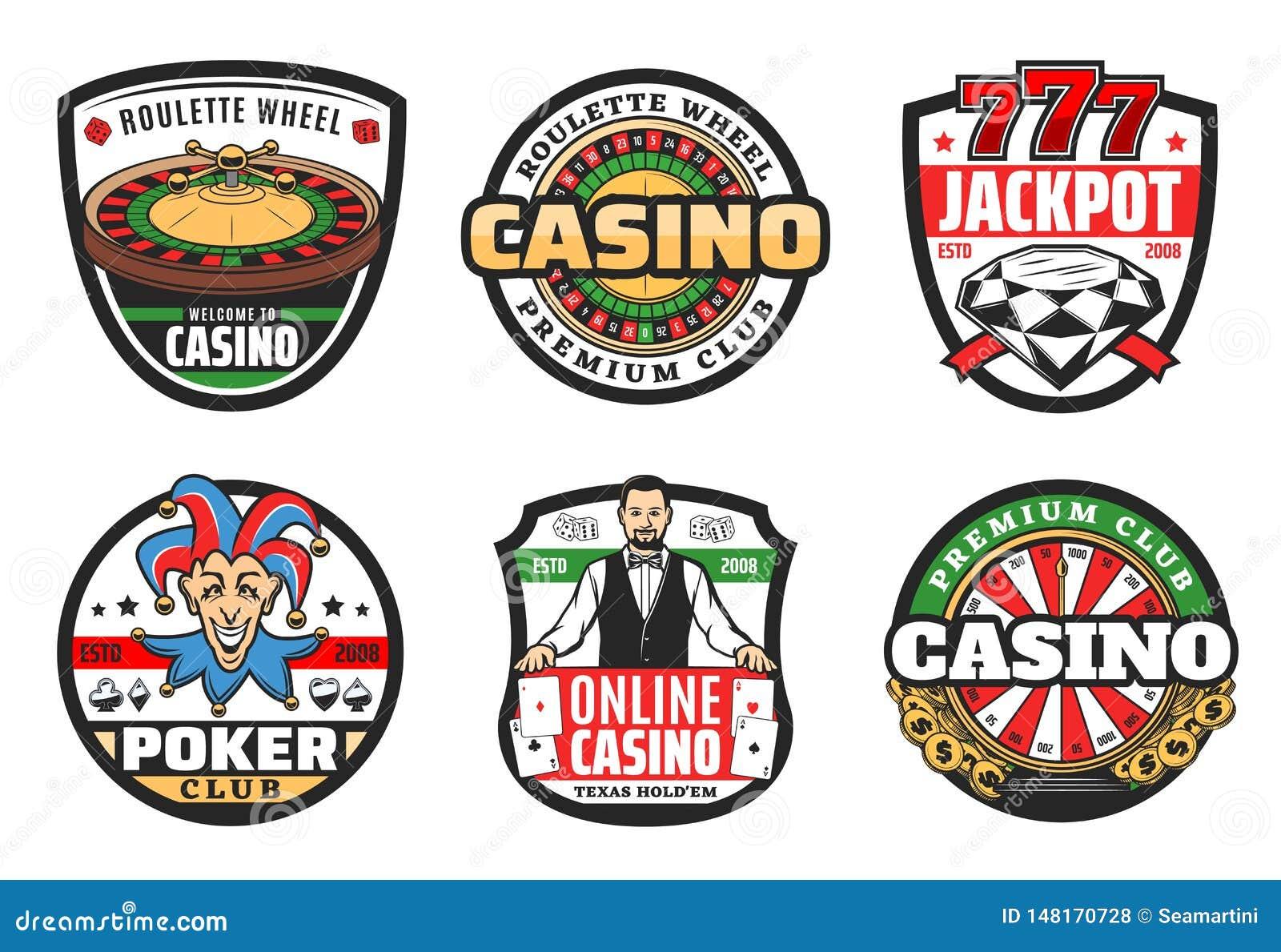 Casino poker club sign, premium jackpot gambling