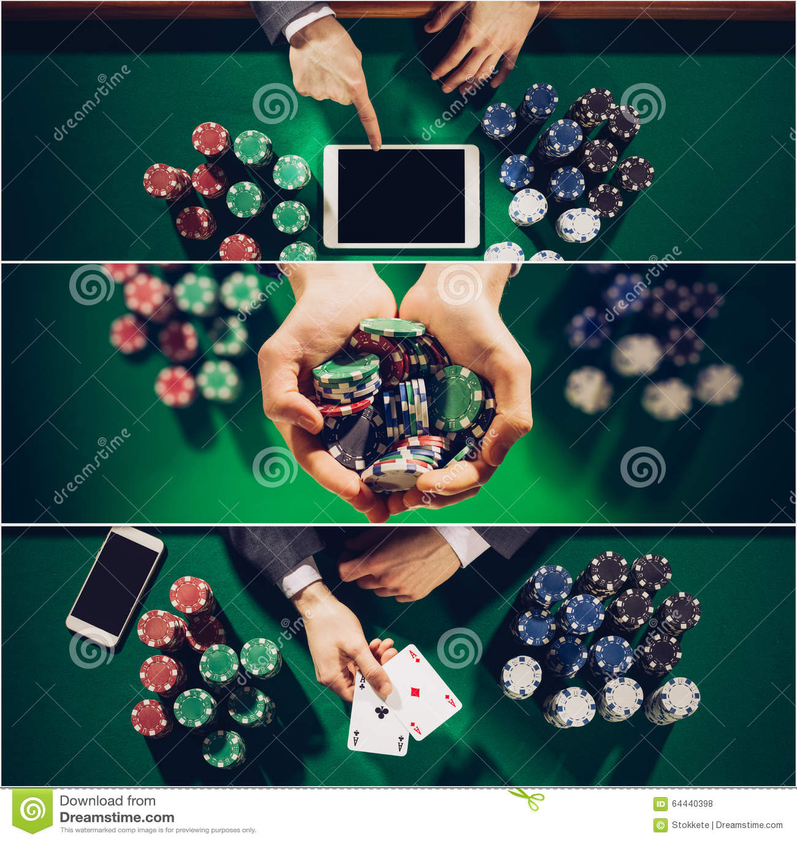Poker collage