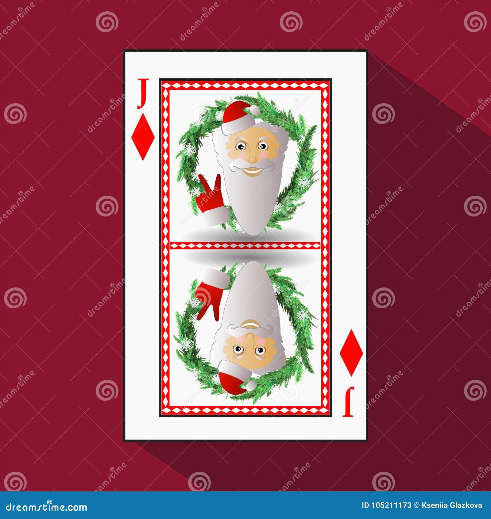 Poker för ` s för nytt år för kort illustration
