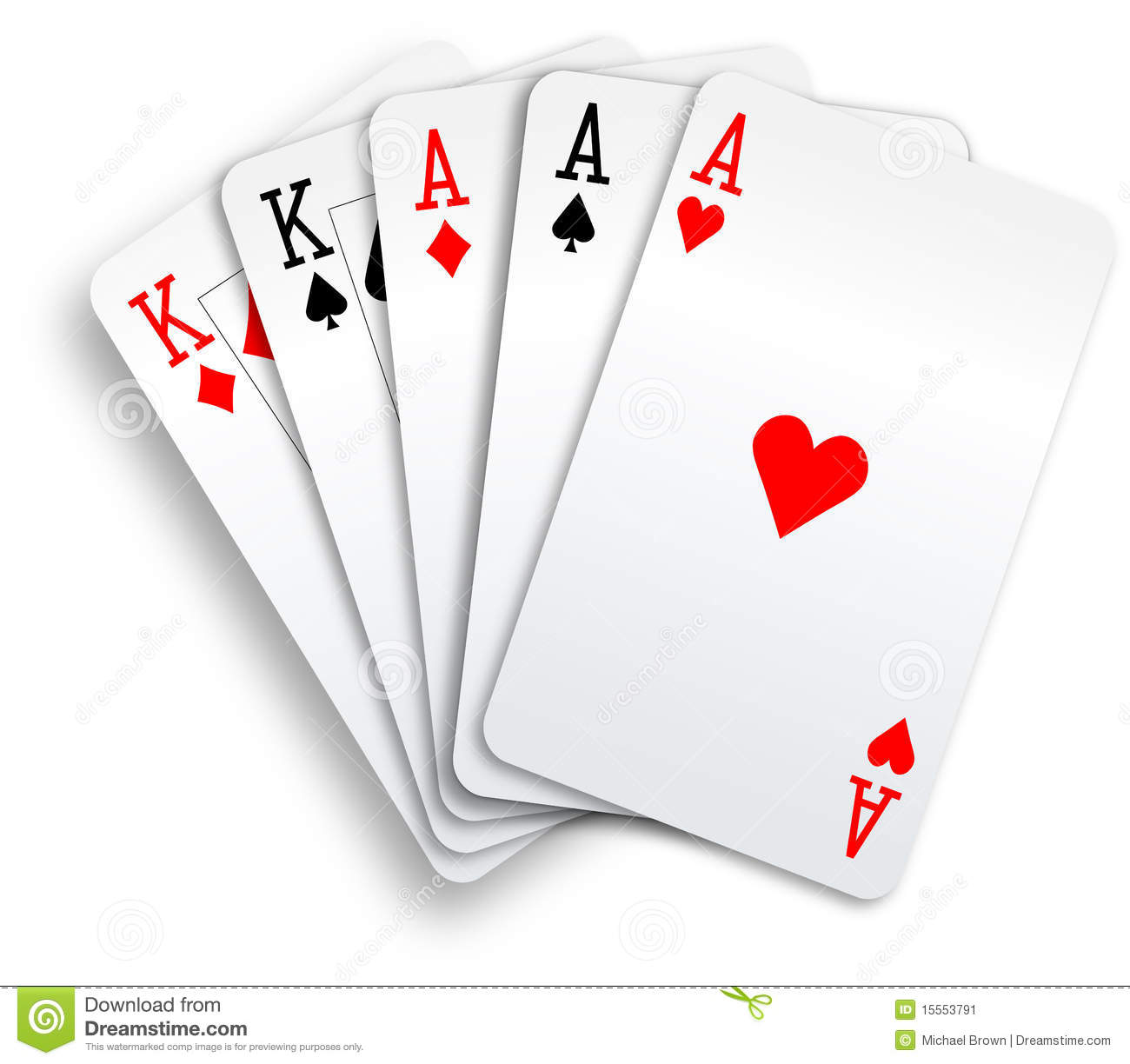 aces full of kings poker cards