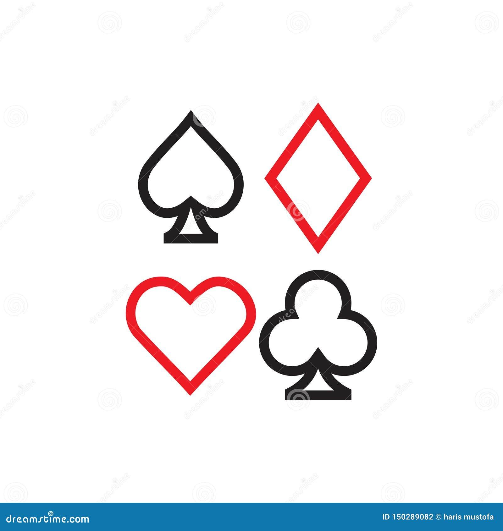 Poker icon graphic design template vector