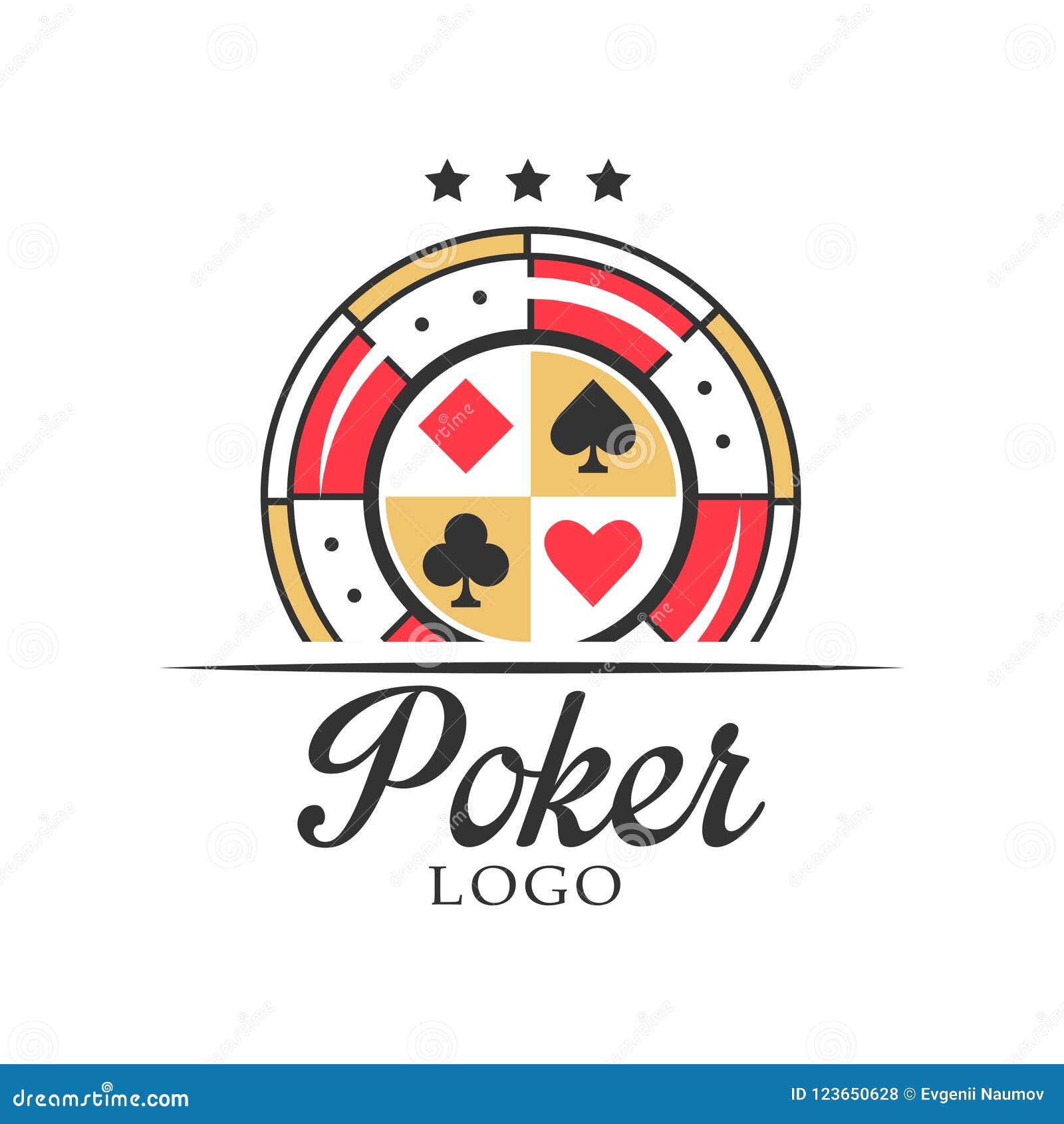Poker Logo Vintage Emblem With Dice For Poker Club Casino Championship Vector Illustration On A White Background Stock Vector Illustration Of Design Brand 123650628