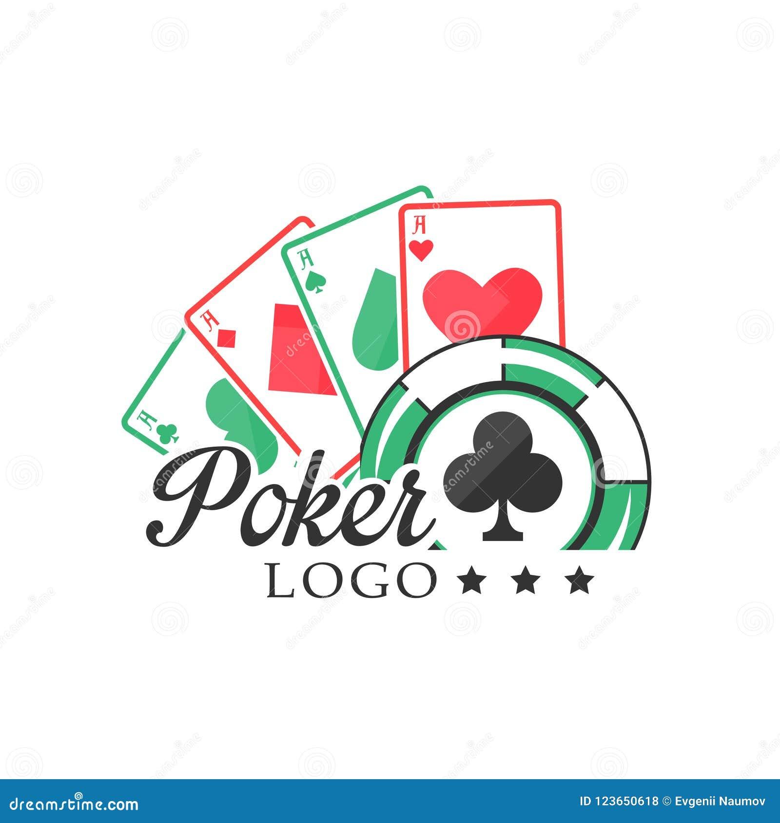 Poker Logo Vintage Emblem With Gambling Elements For Poker Club