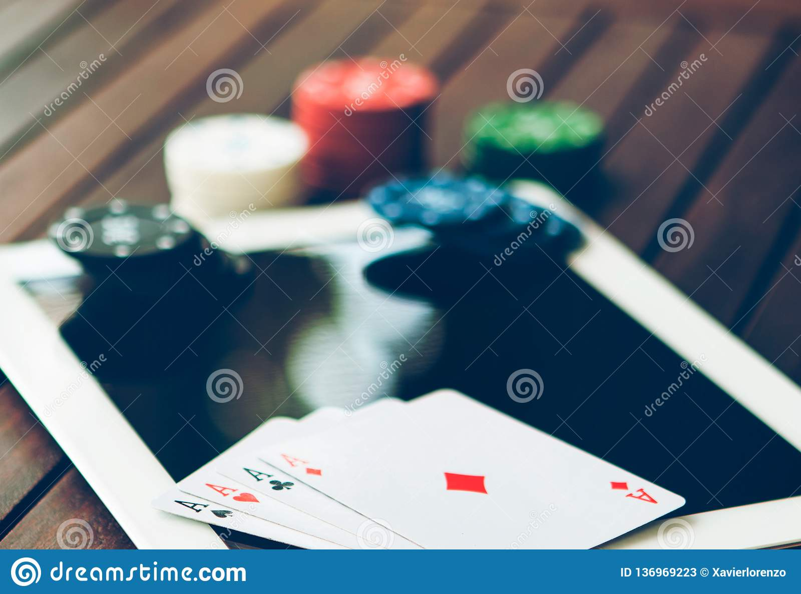 Poker Online Concept Bet And Win Money Gambling On Internet Stock Image Image Of Playing Concept 136969223