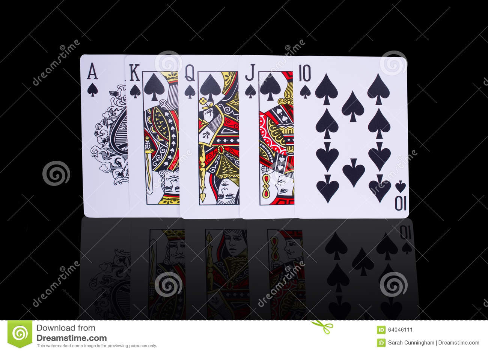 Poker Royal Flush Playing Cards Stock Image Image Of Hand Game 64046111