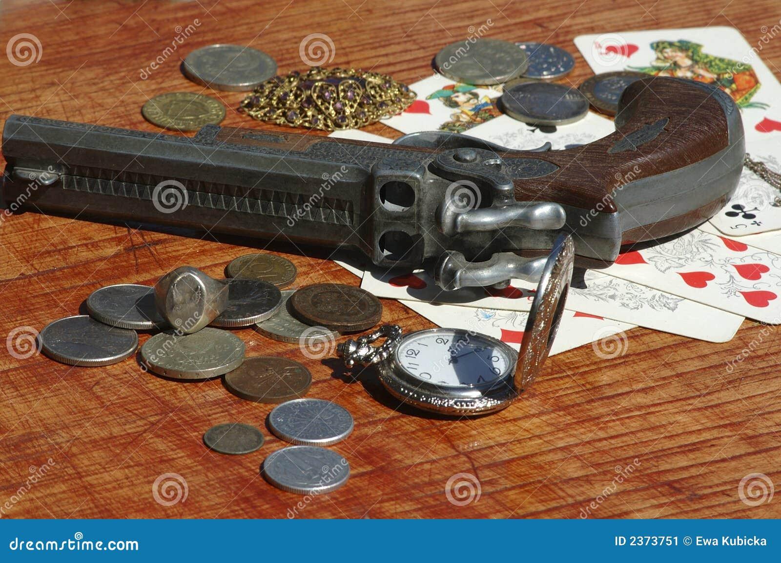 Poker table under the gun