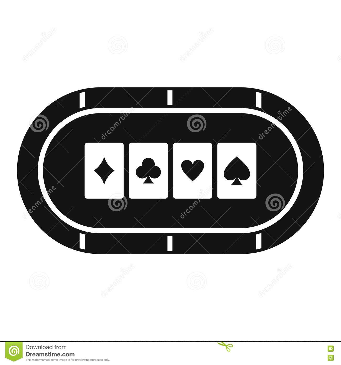 Simple table free other icons - Icon Illustration Poker Simple Table