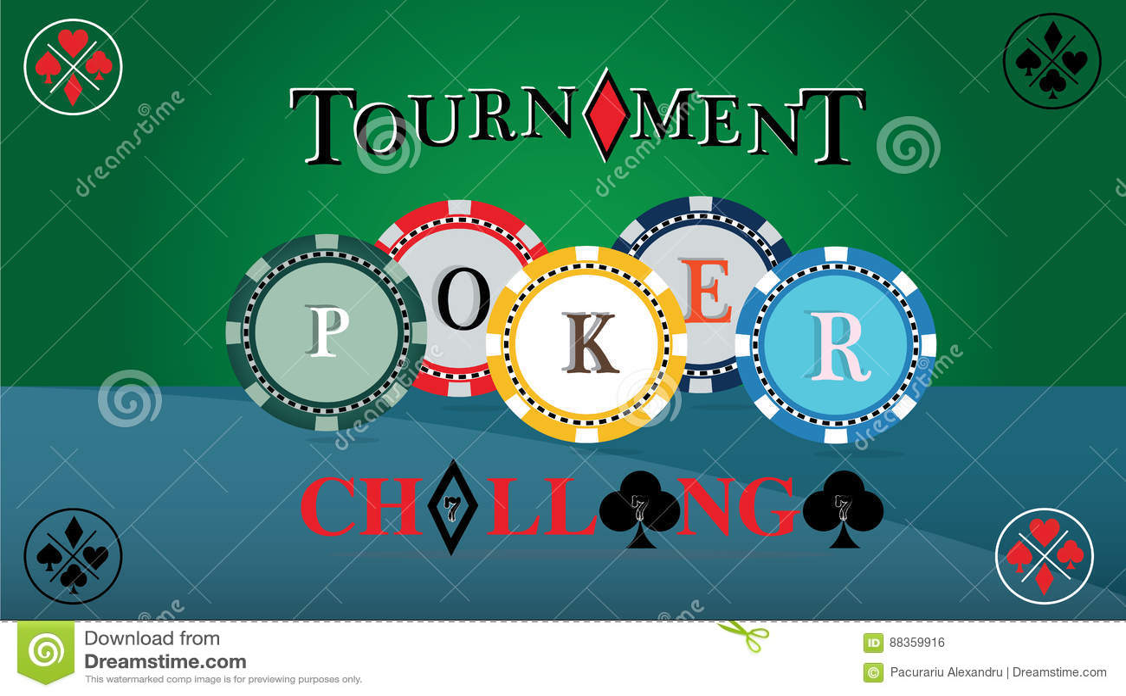 Home poker tournament chip distribution