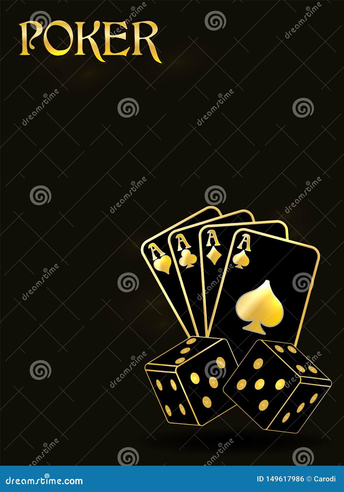 Poker Vip Invitation Banner Vector Stock Vector Illustration Of Golden Fortune 149617986