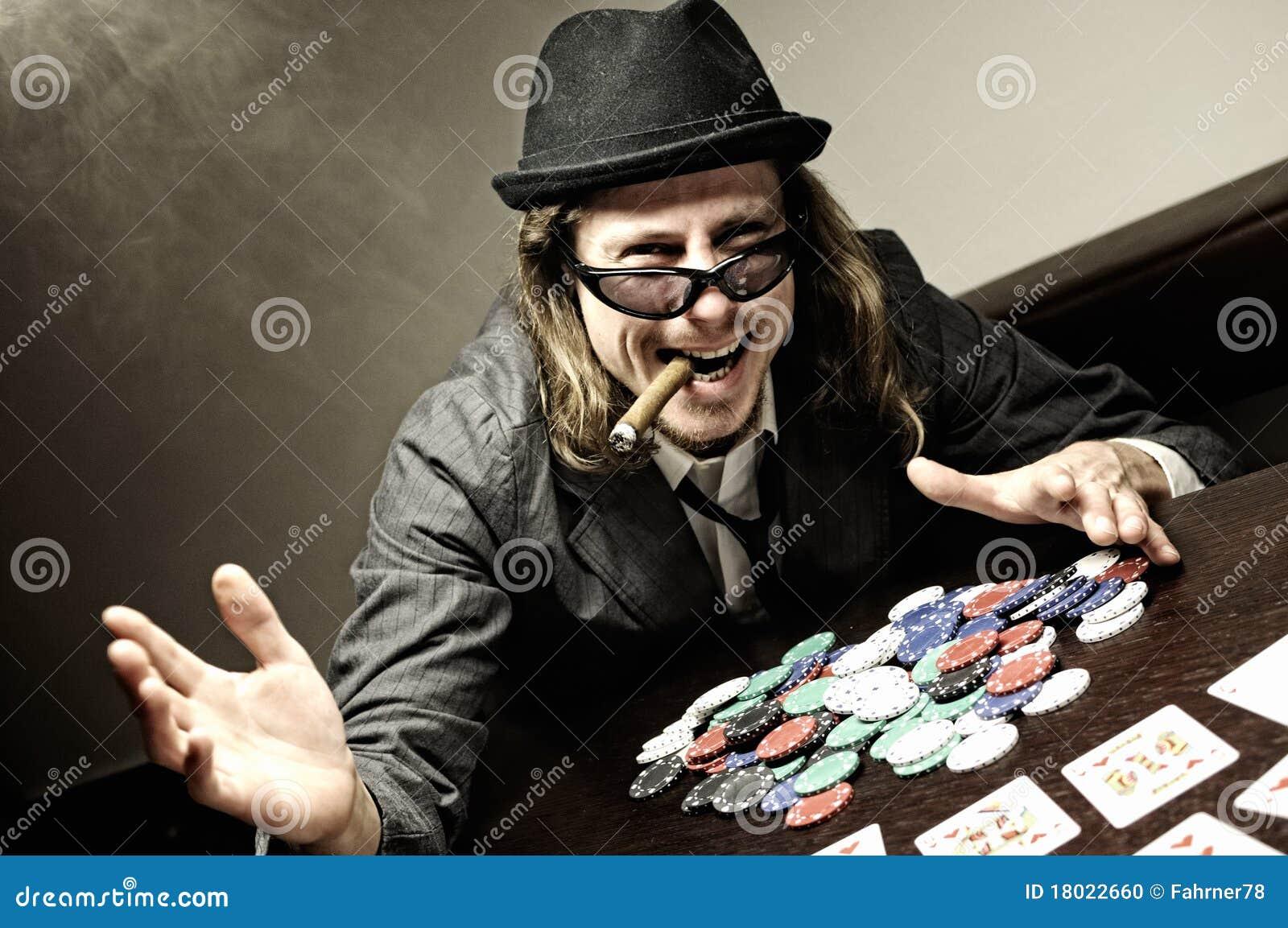 Poker winner stock photo. Image of chance, mafia, gangster