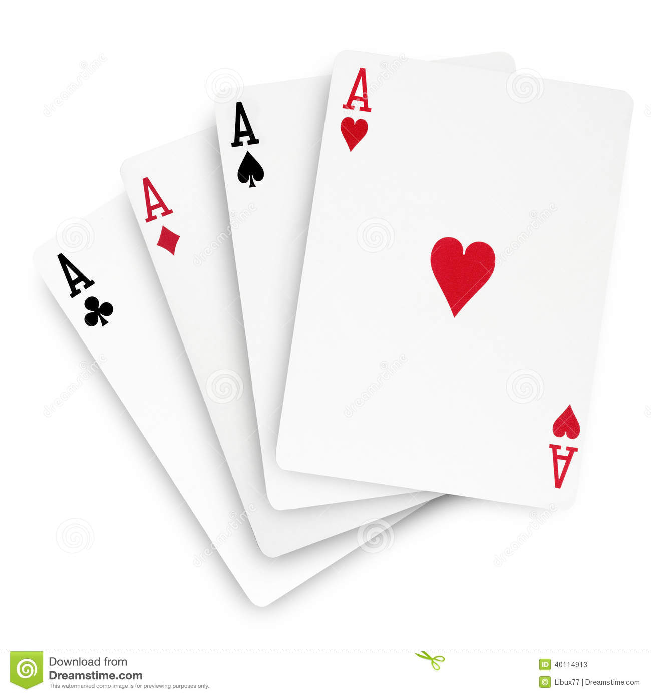 Poker Winning Hand Aces Ace Cards Stock Image - Image of