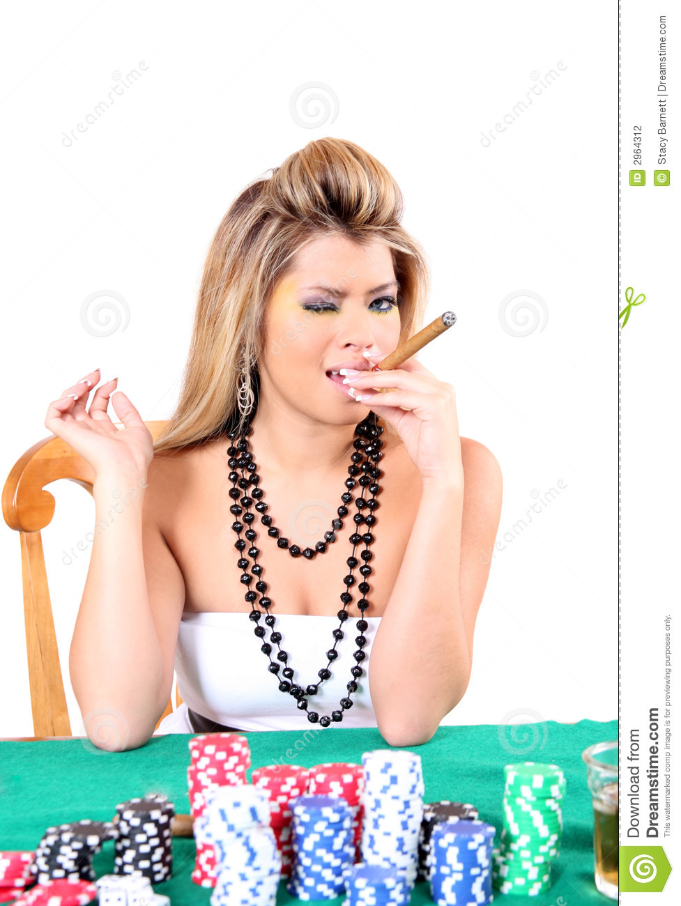 Poker Woman 2 Stock Photography - Image: 2964312