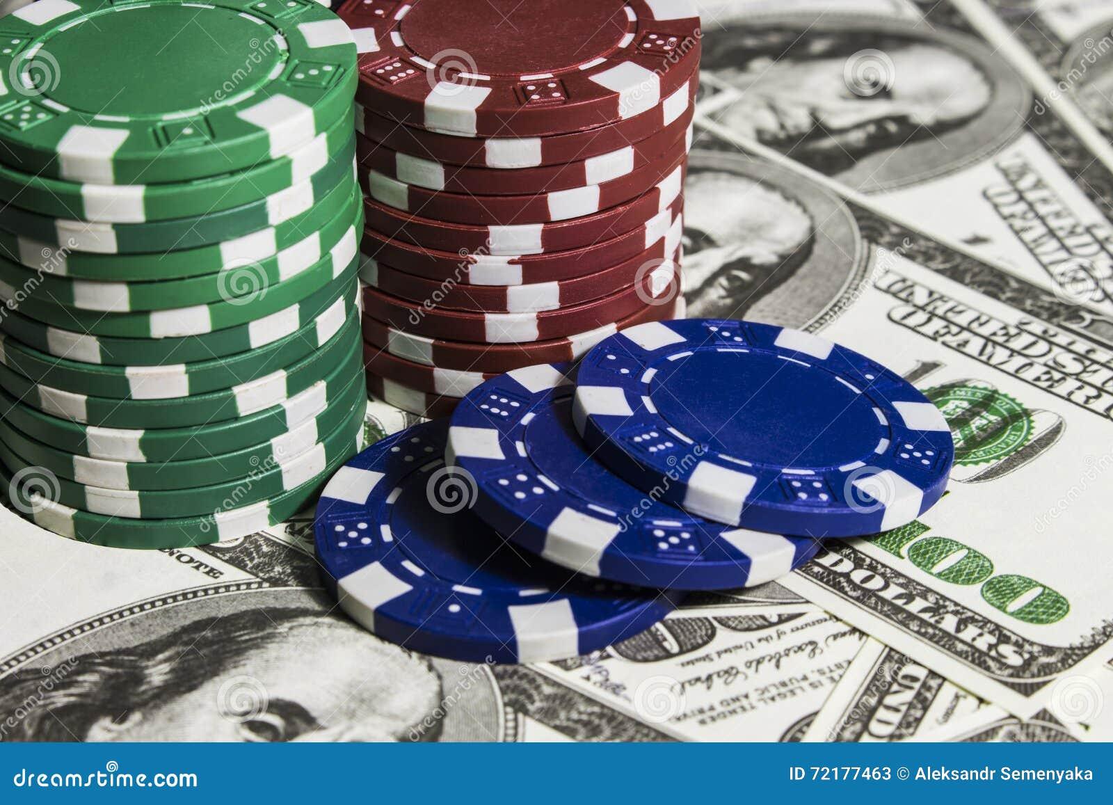 Pokerchiper med dolars