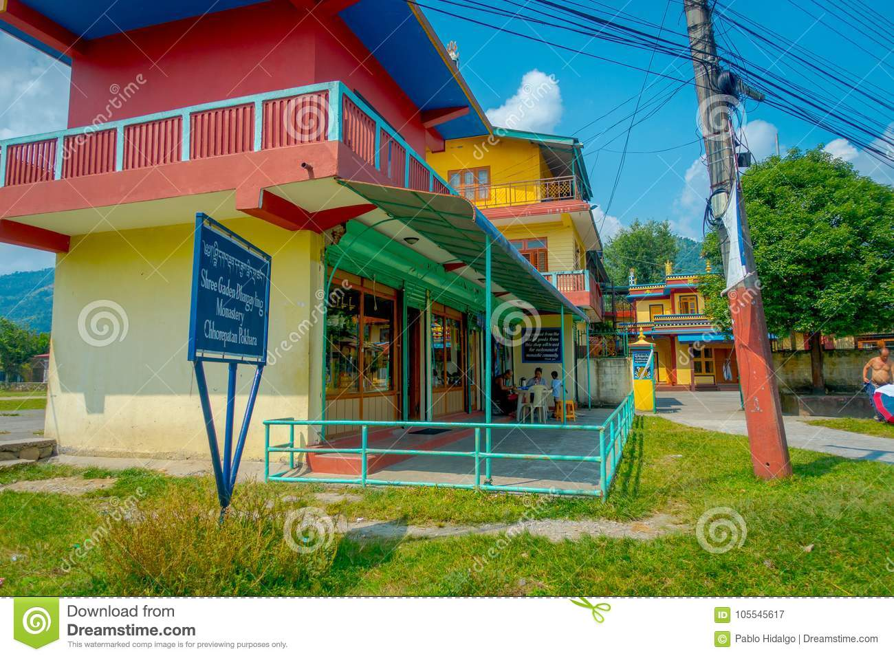 POKHARA, NEPAL - OCTOBER 06 2017: Grocery Store Inside Of A