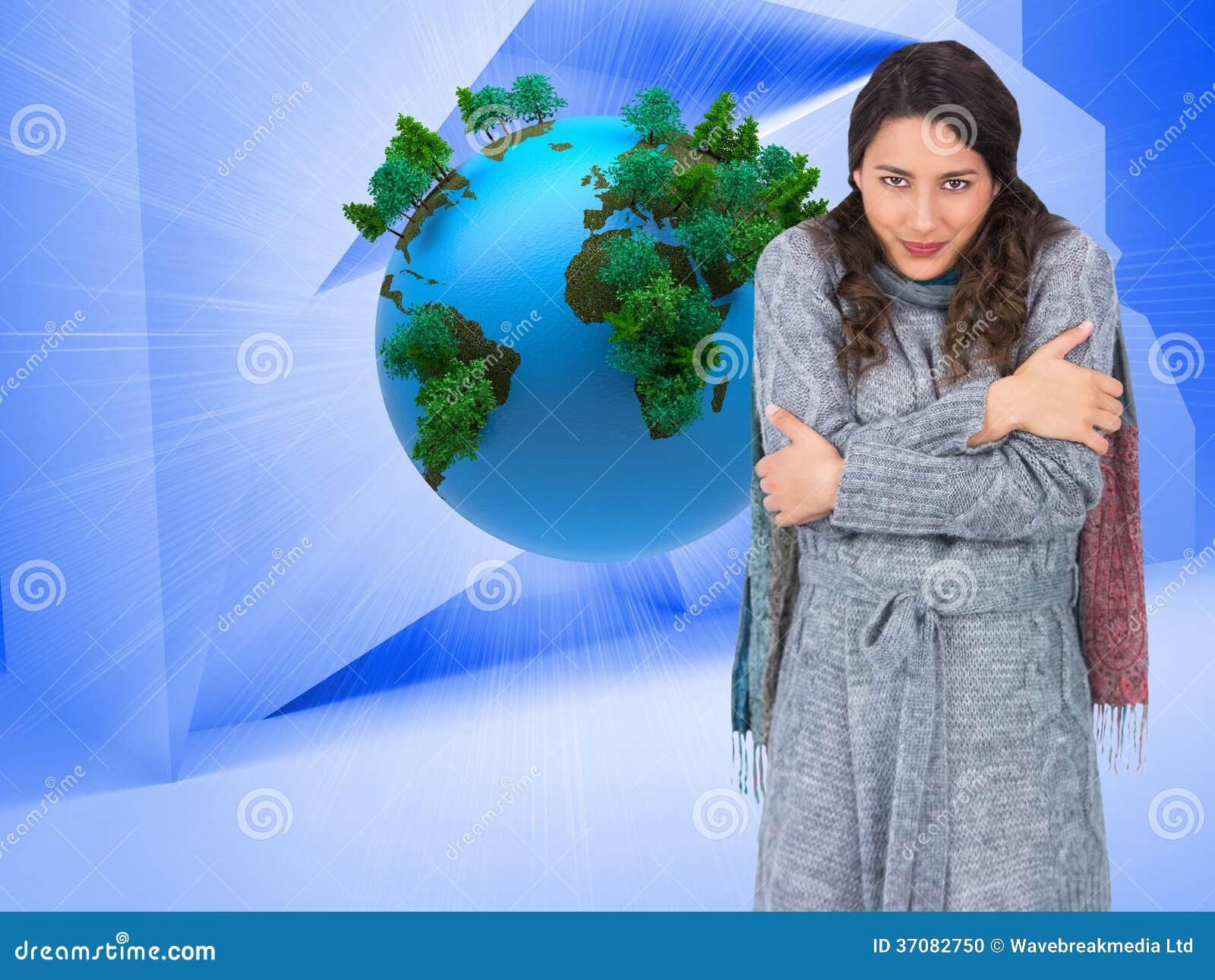 Download Pokojowy ładny Model Z Zim Ubraniami Jest Zimny Ilustracji - Ilustracja złożonej z komputer, ostrzy: 37082750
