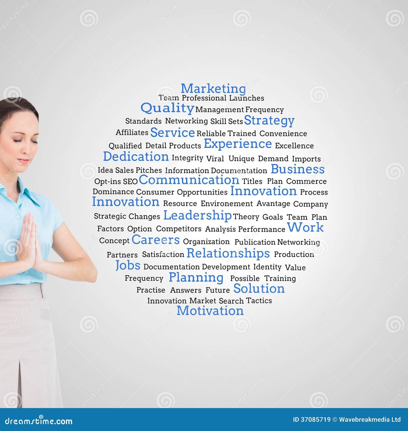 Download Pokojowy Młody Bizneswomanu Modlenie Obraz Stock - Obraz złożonej z szczegółowy, zarządzanie: 37085719