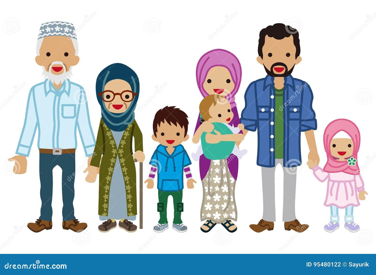 Pokolenie rodzina - muzułmanin