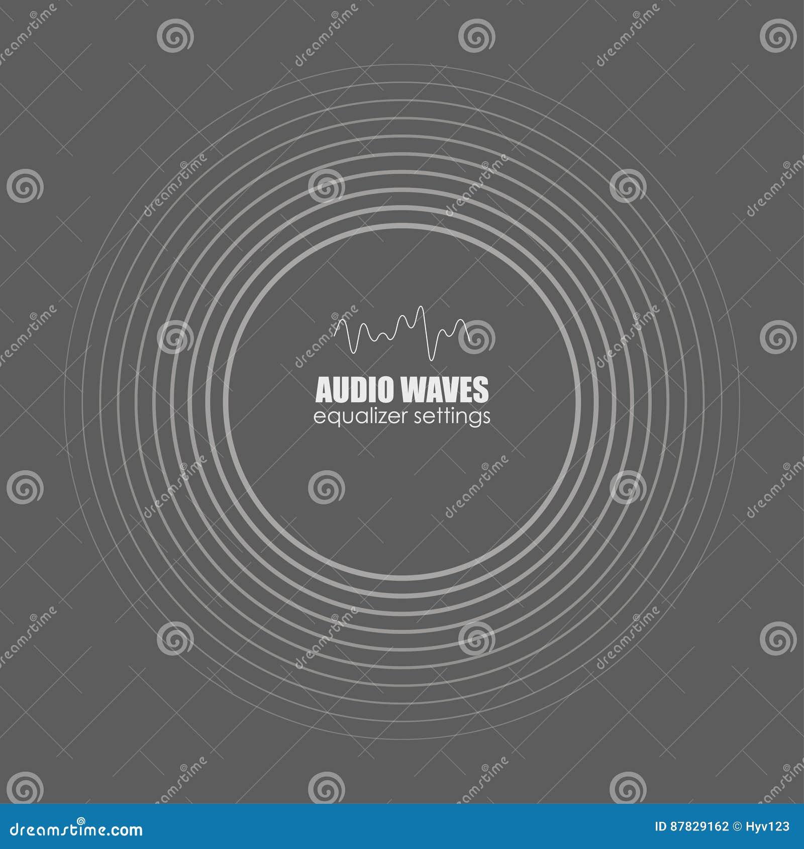 Pokrywa dla muzyka śladu lub albumu tła czarny ilustraci dźwięka wektor macha biel Audio technologia, pulsu musical Wektorowe ilu