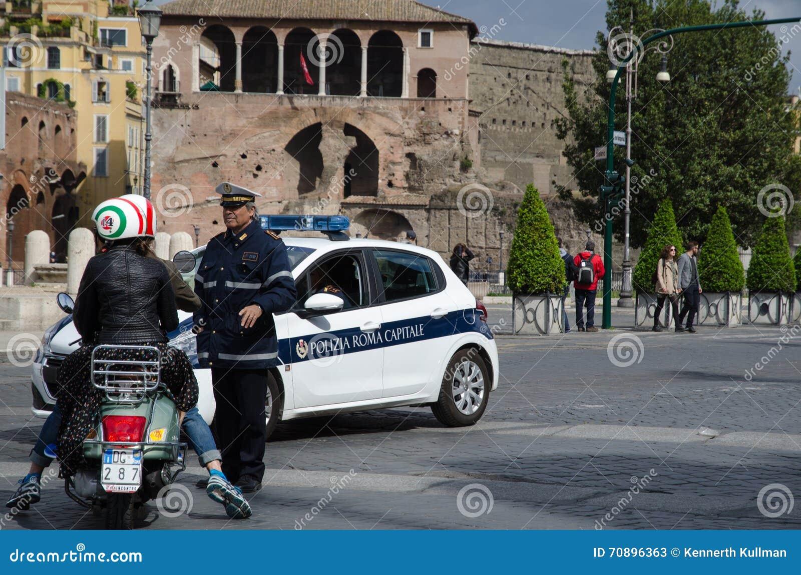 Polícia em Roma, Itália