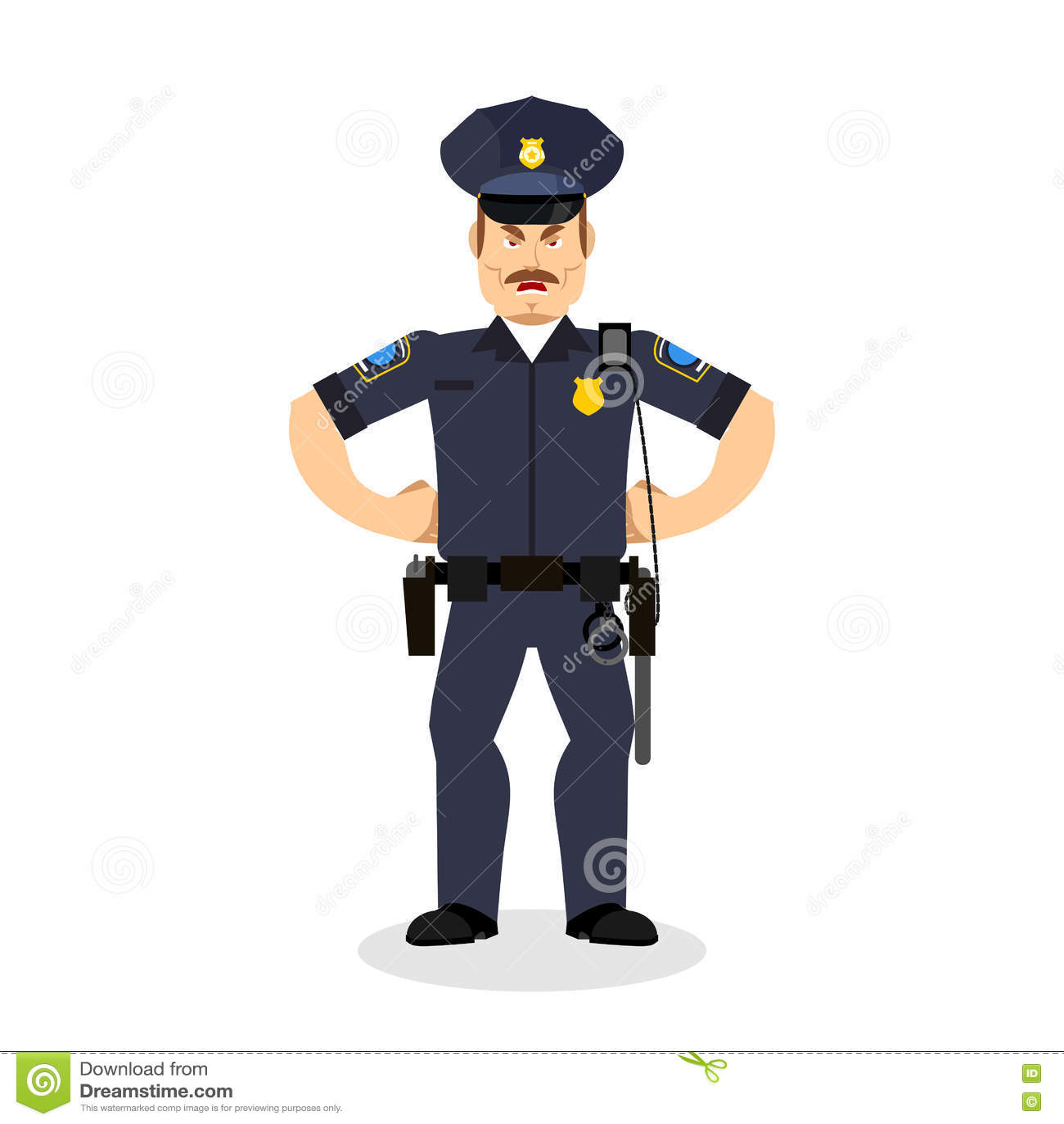 Polícia irritado bobina wrathful Polícia agressiva do oficial