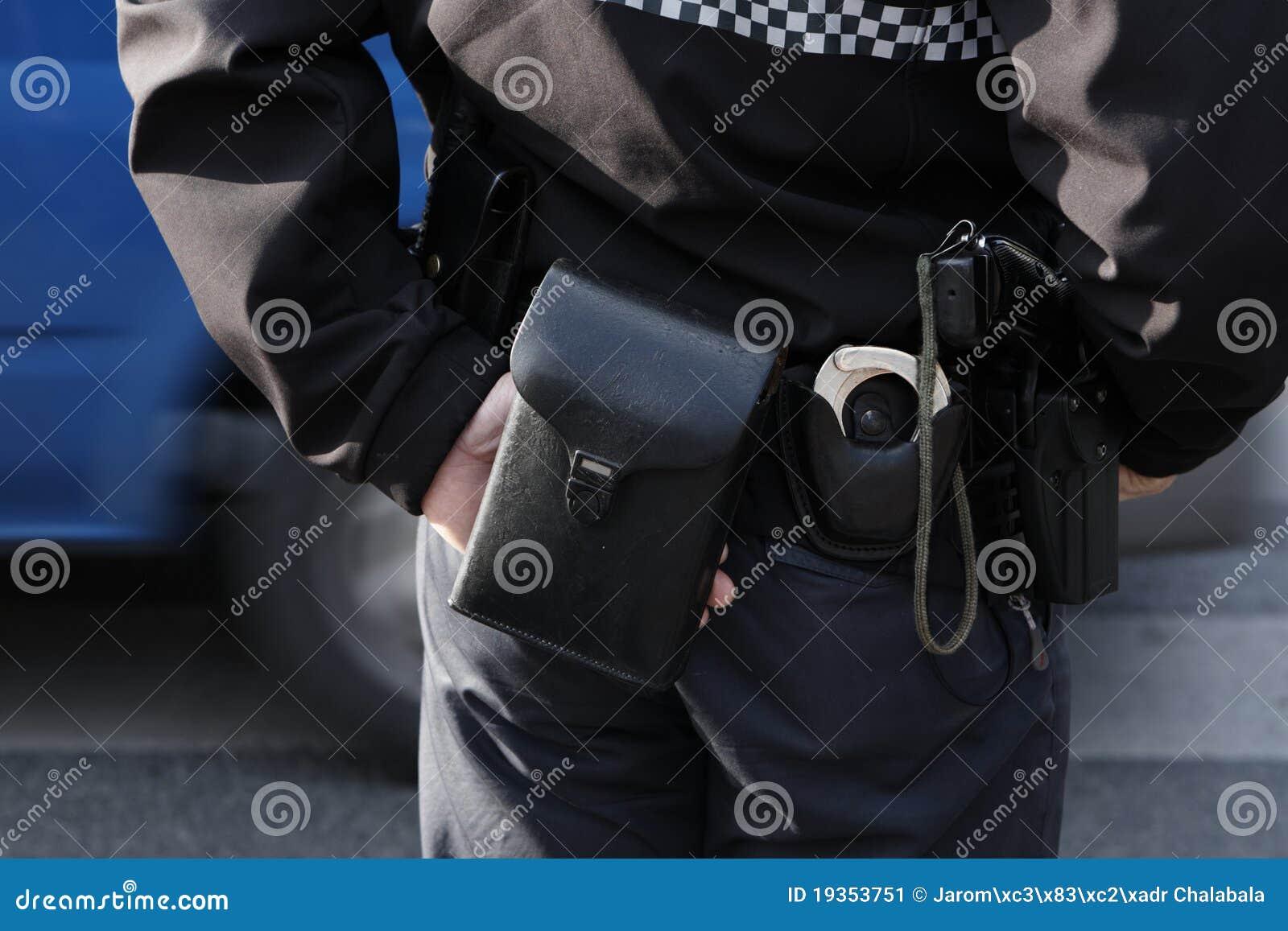 A polícia patrulha