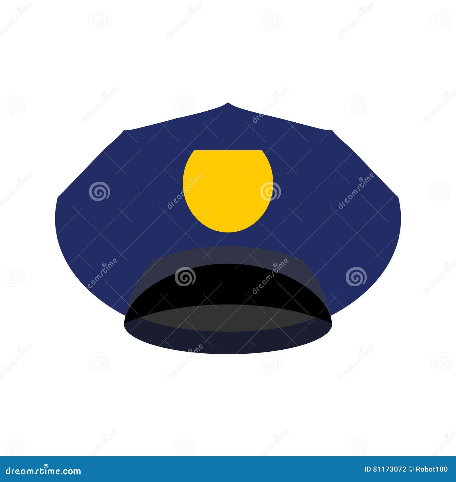A polícia tampa isolado Oficial da bobina do chapéu Polícia acessório