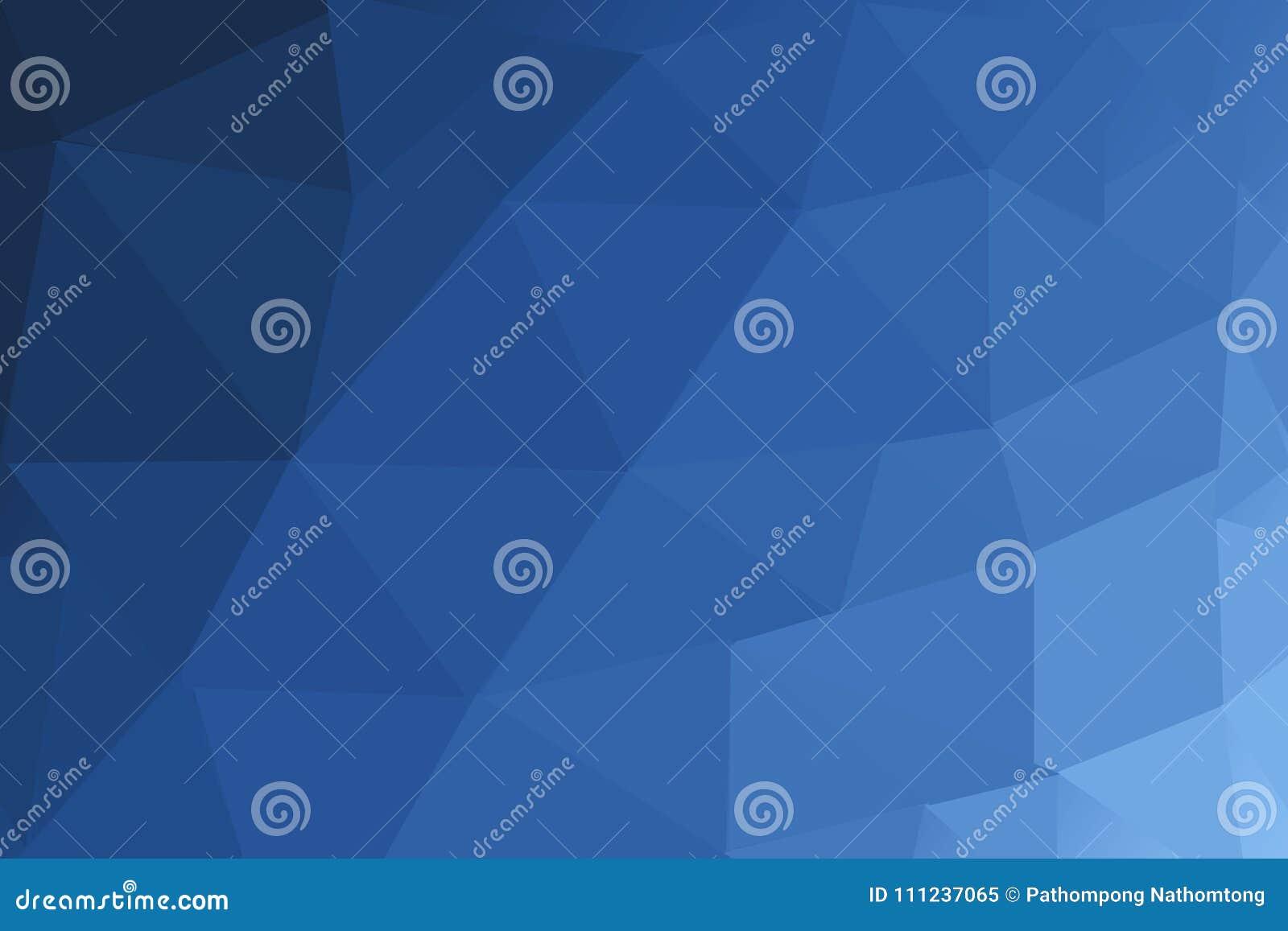 Polígono borroso AZUL MARINO del triángulo