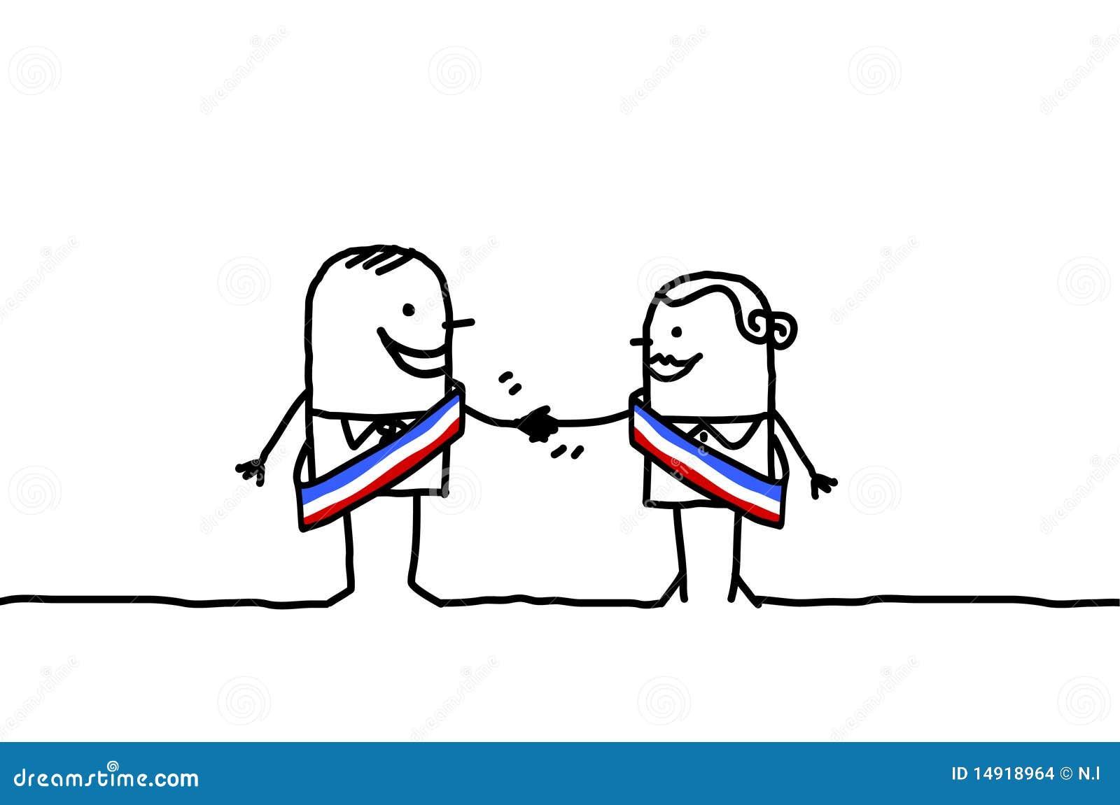 Política Y Paridad Ilustración Del Vector Ilustración De Manos