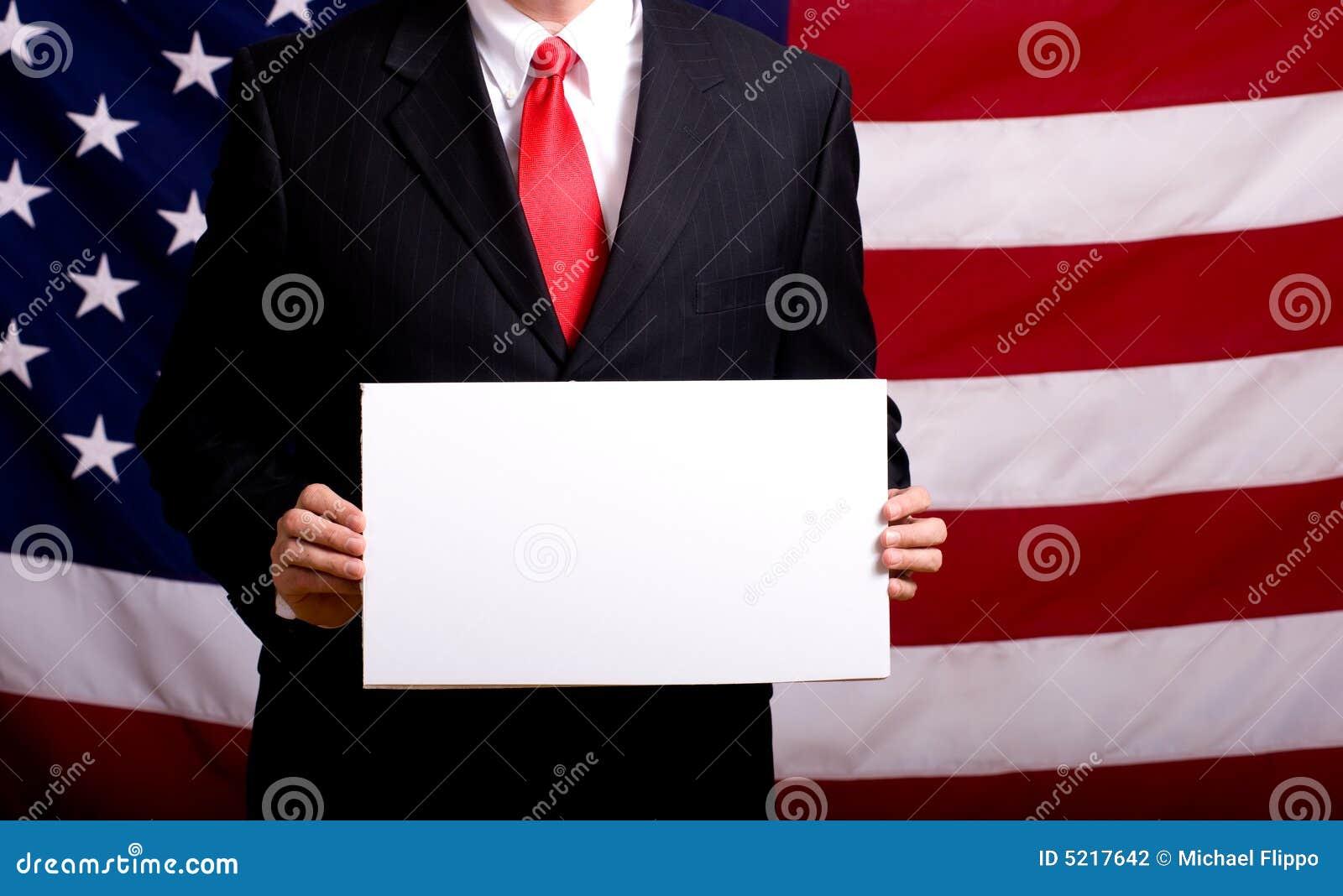 Político que prende o sinal em branco