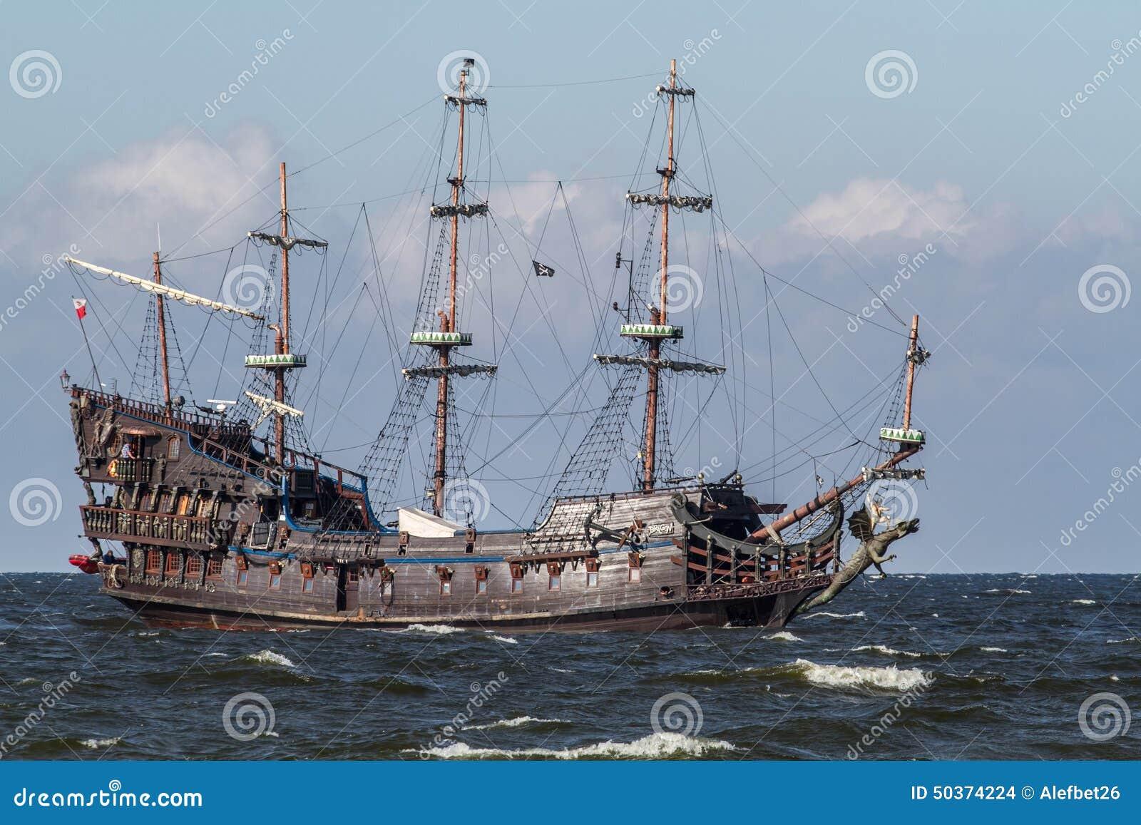 poland baltic sea old sailing ship stock photo image of sailing