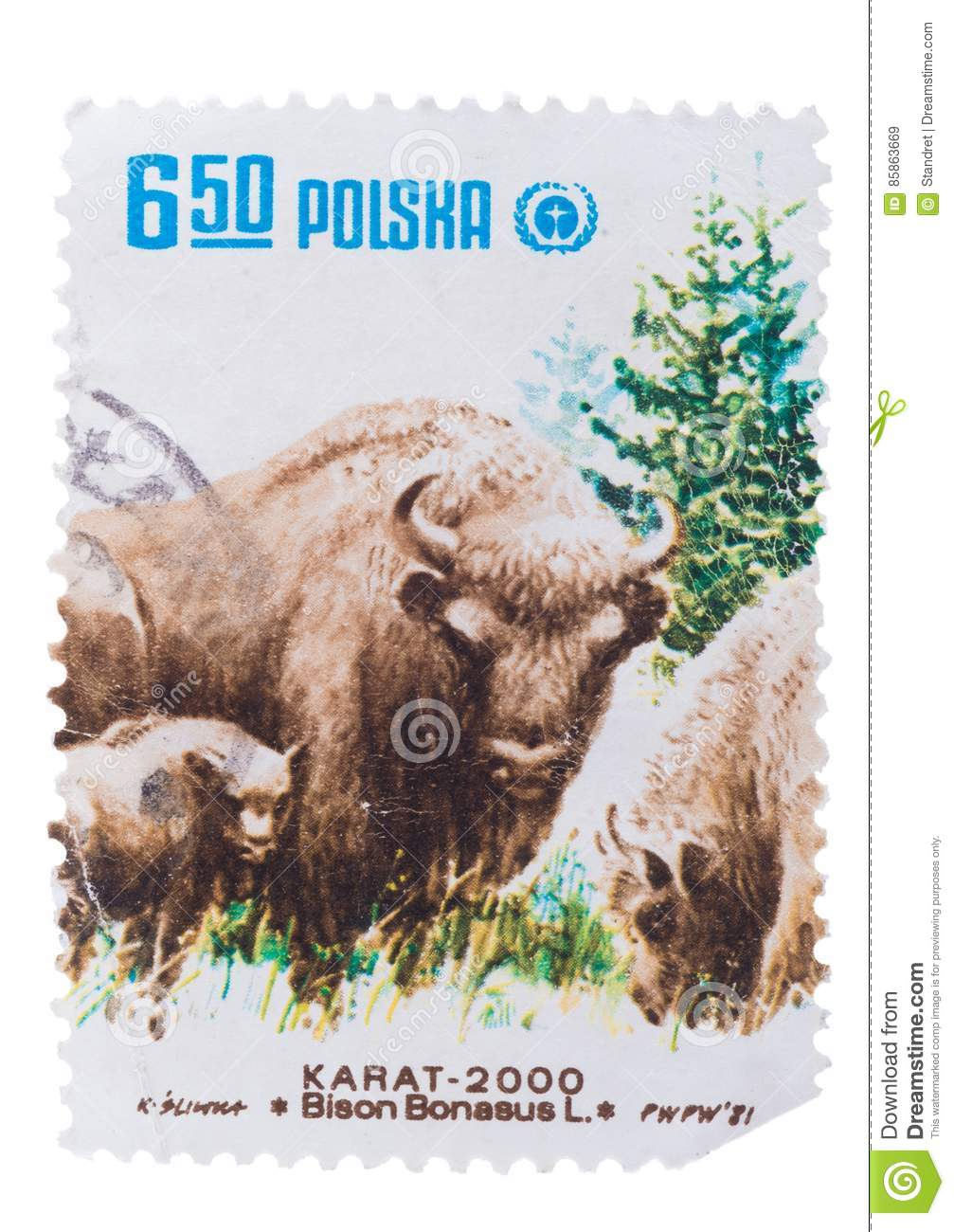 POLAND - CIRCA 1981: A Stamp printed in shows series of