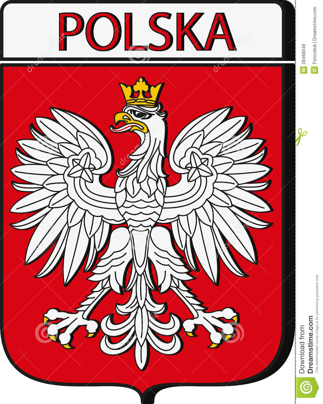 Polish Crest Poland Emblem Royalty Free Stock Images  Image 28468049