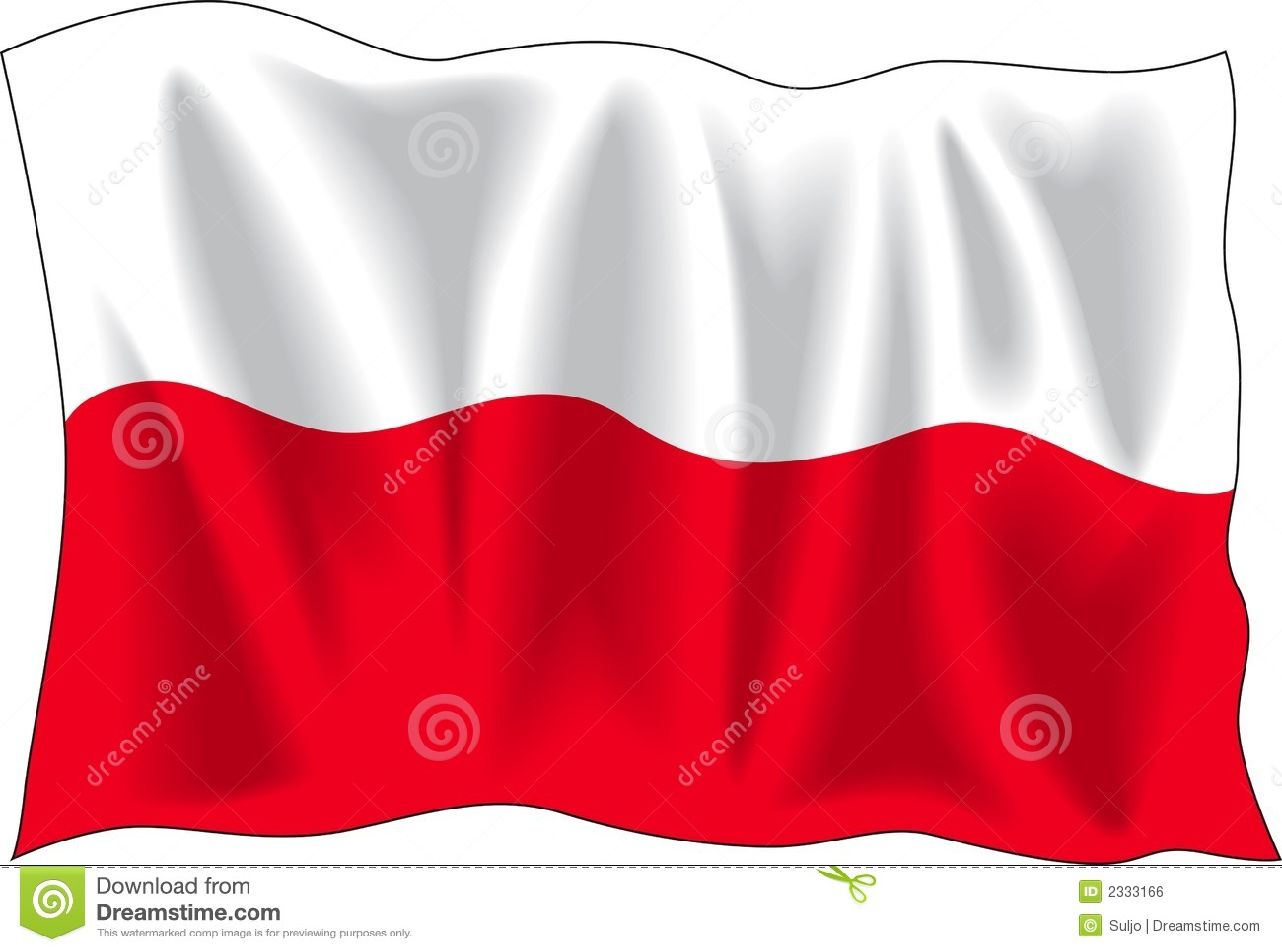 poland flag royalty free stock image image 2333166