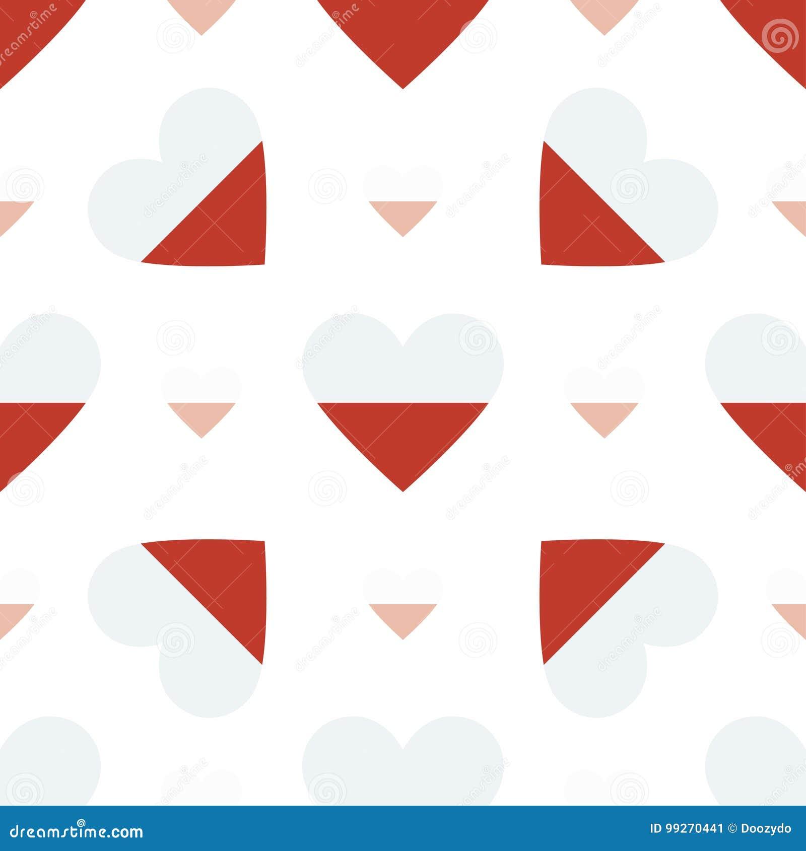 Poland flag patriotic seamless pattern.