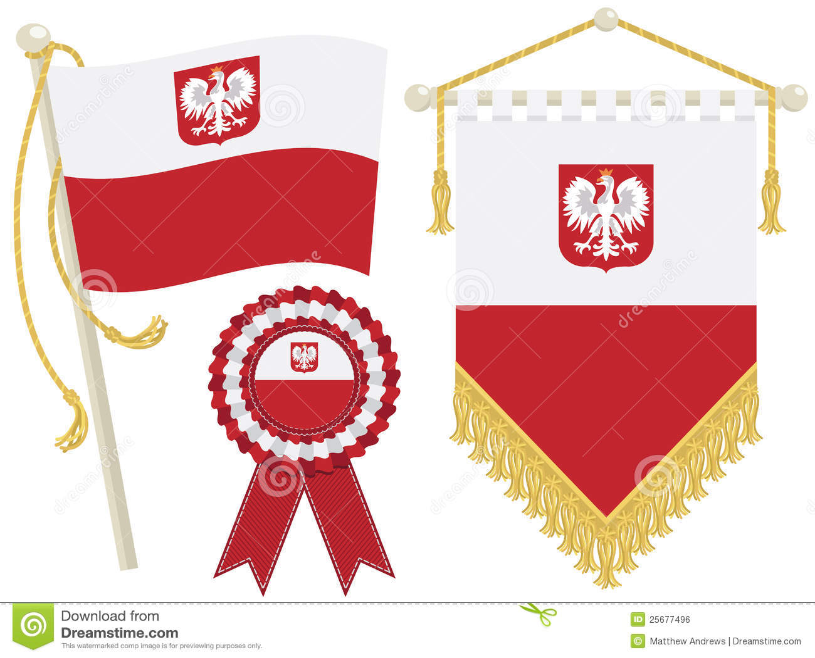 Poland flags