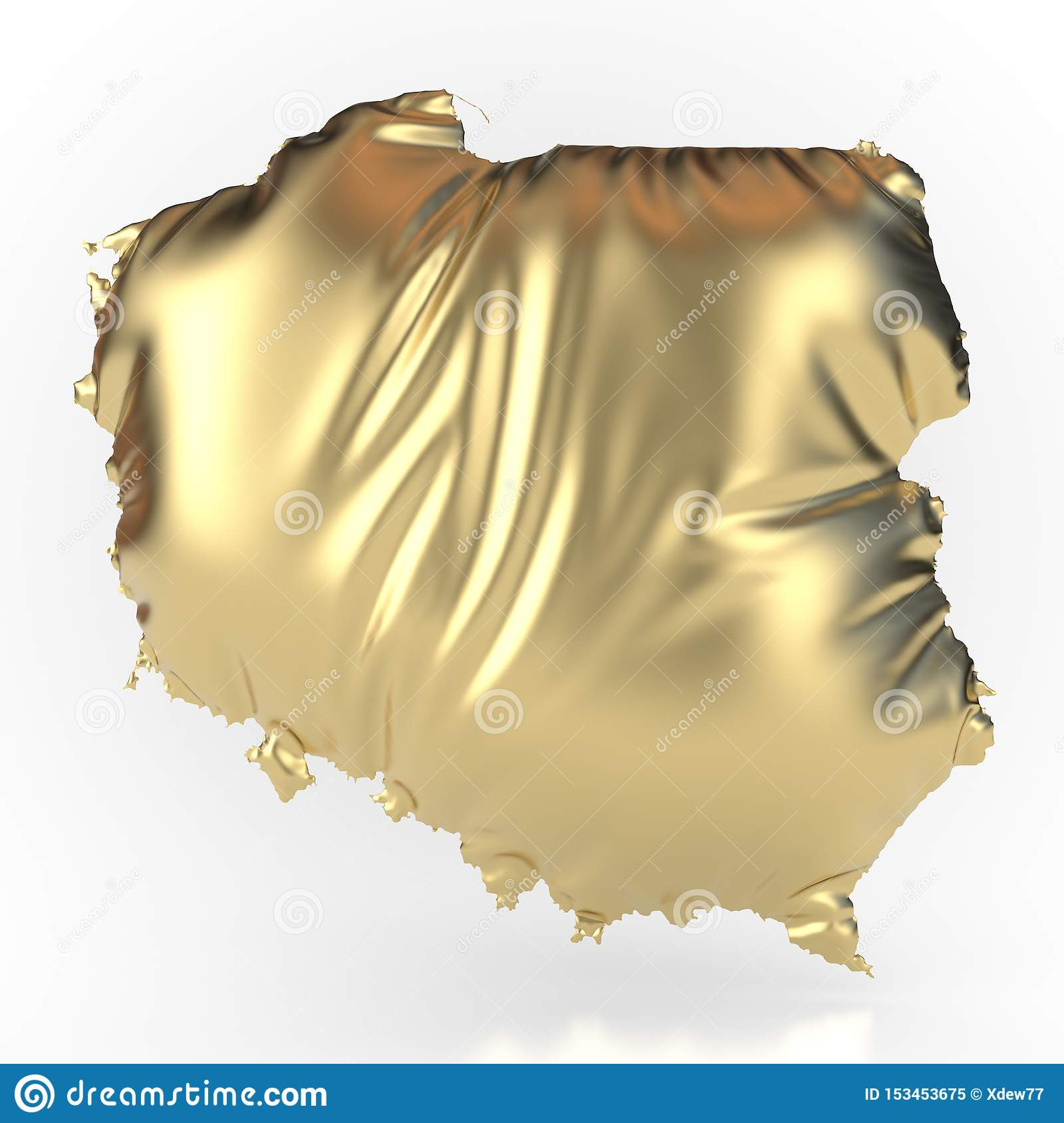 Poland gold-colored and inflated