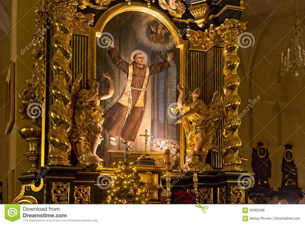 Church decorations for january - Editorial Stock Photo