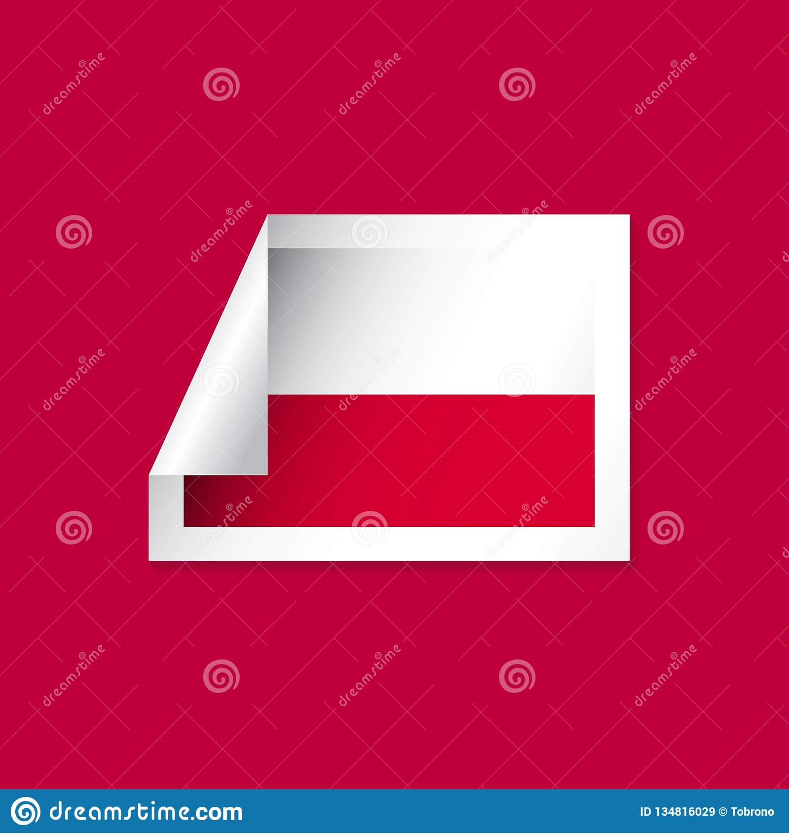 Poland Label Flags Vector Design Illustration