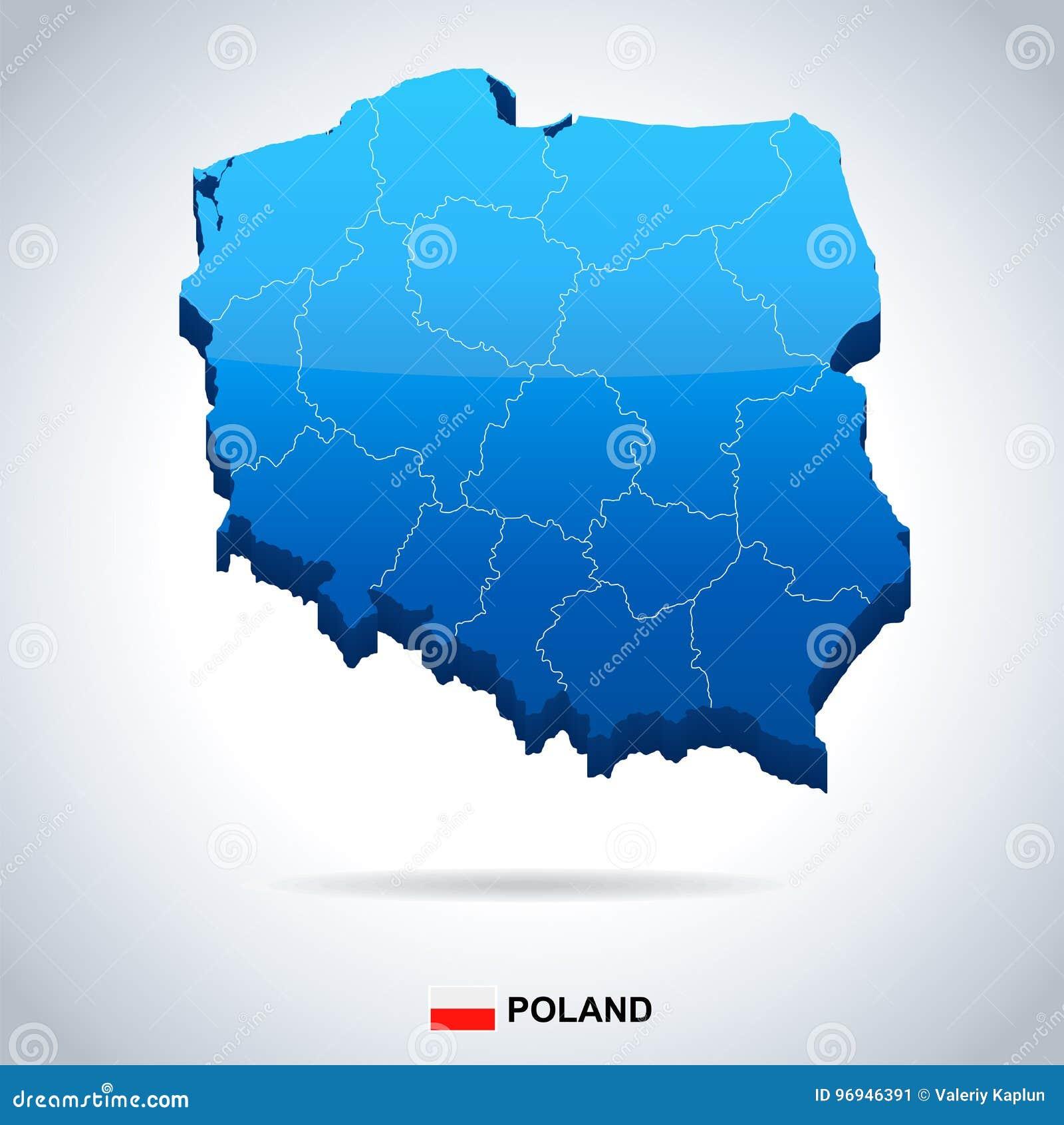 Poland - Map And Flag Illustration Stock Illustration - Illustration ...