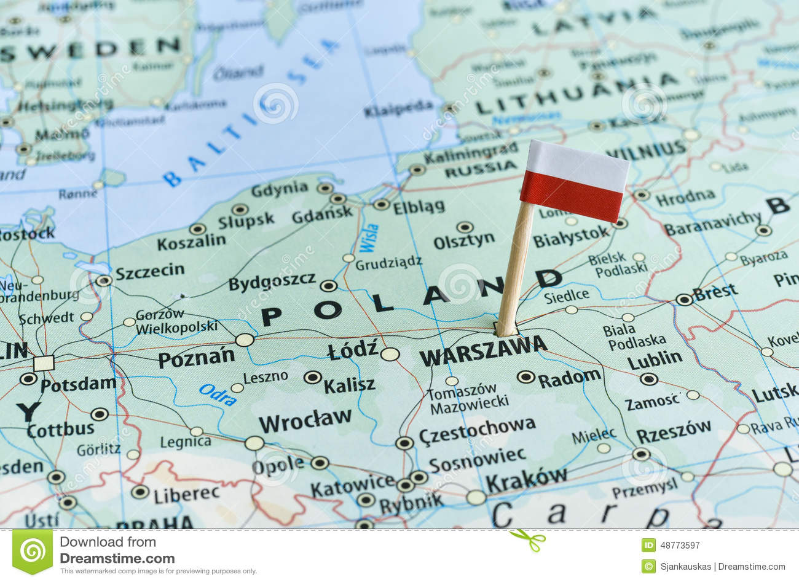 Poland map flag pin stock image. Image of european, borders - 48773597