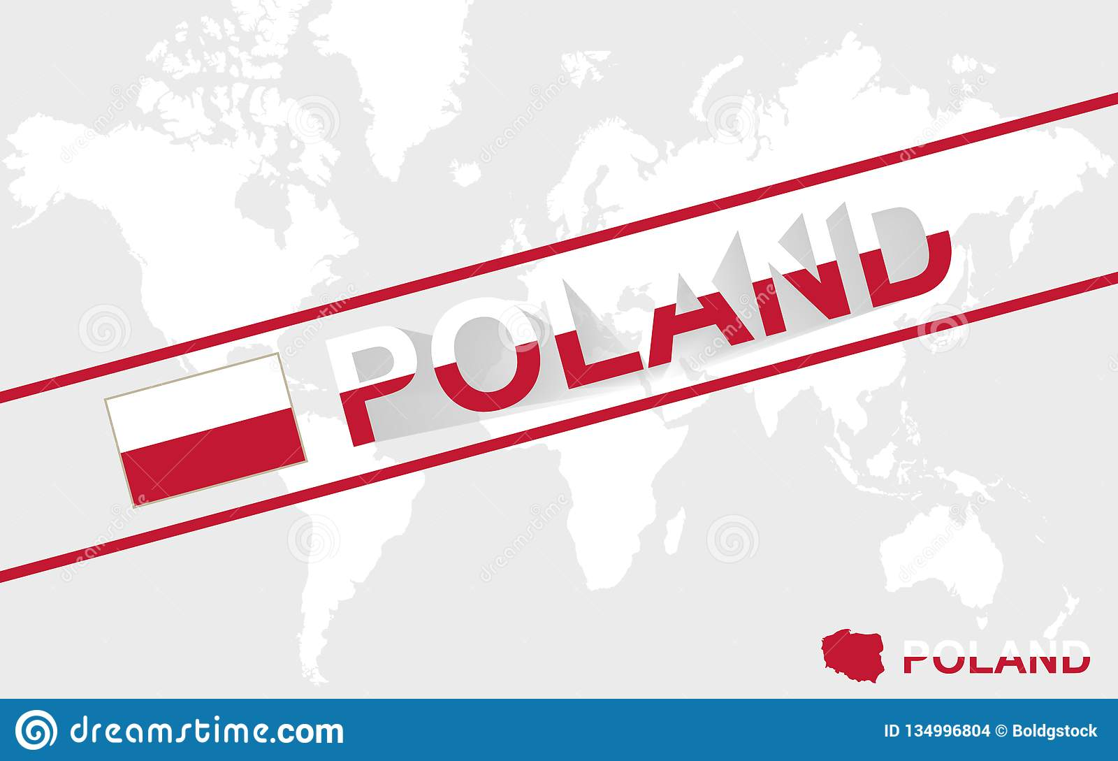 Poland Map Flag And Text Illustration Stock Vector - Illustration of ...