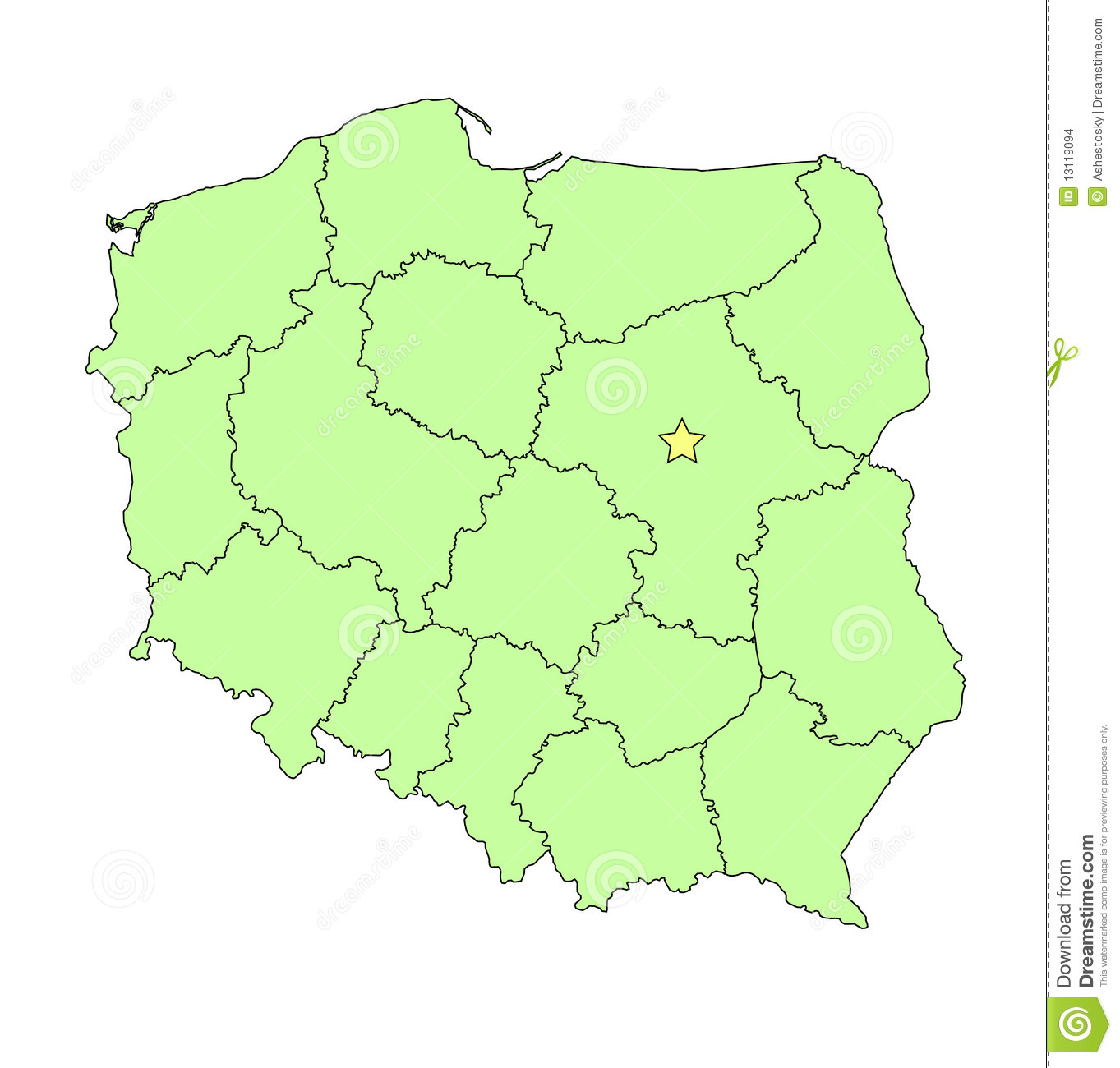 Capital Of Poland Map.Map Capital Poland