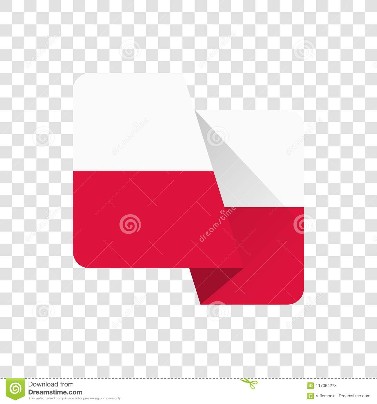 poland national flag stock illustration illustration of