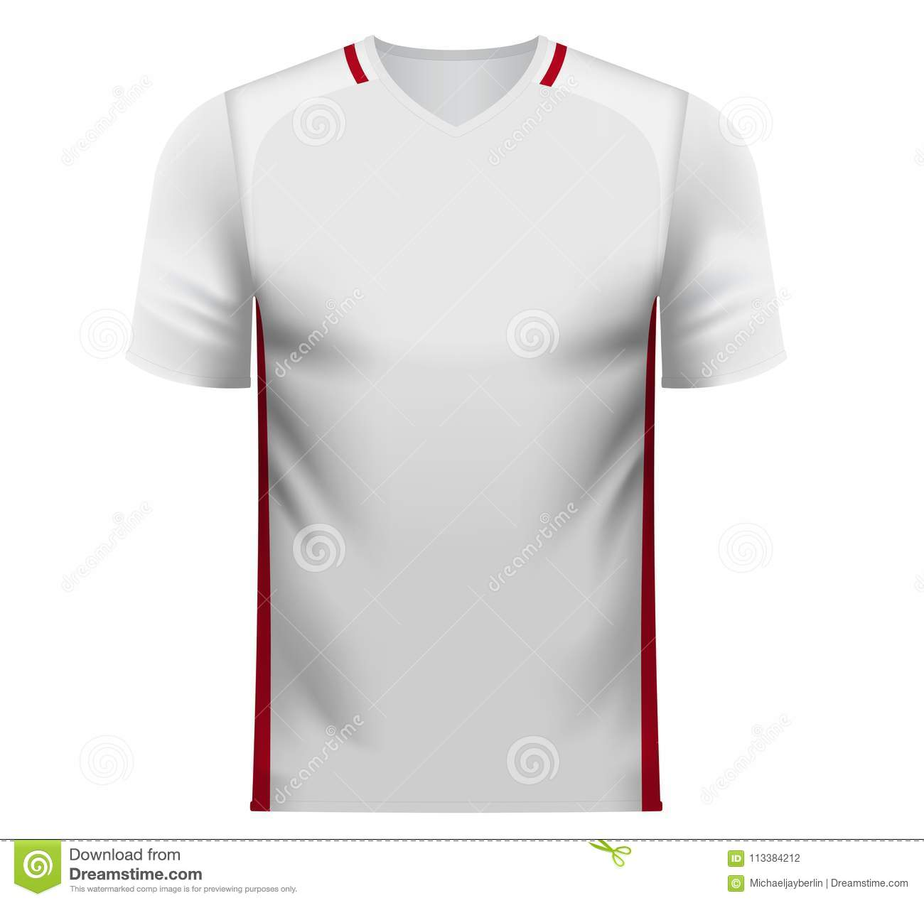 fdf121b58ca Poland national soccer team shirt in generic country colors for fan apparel.