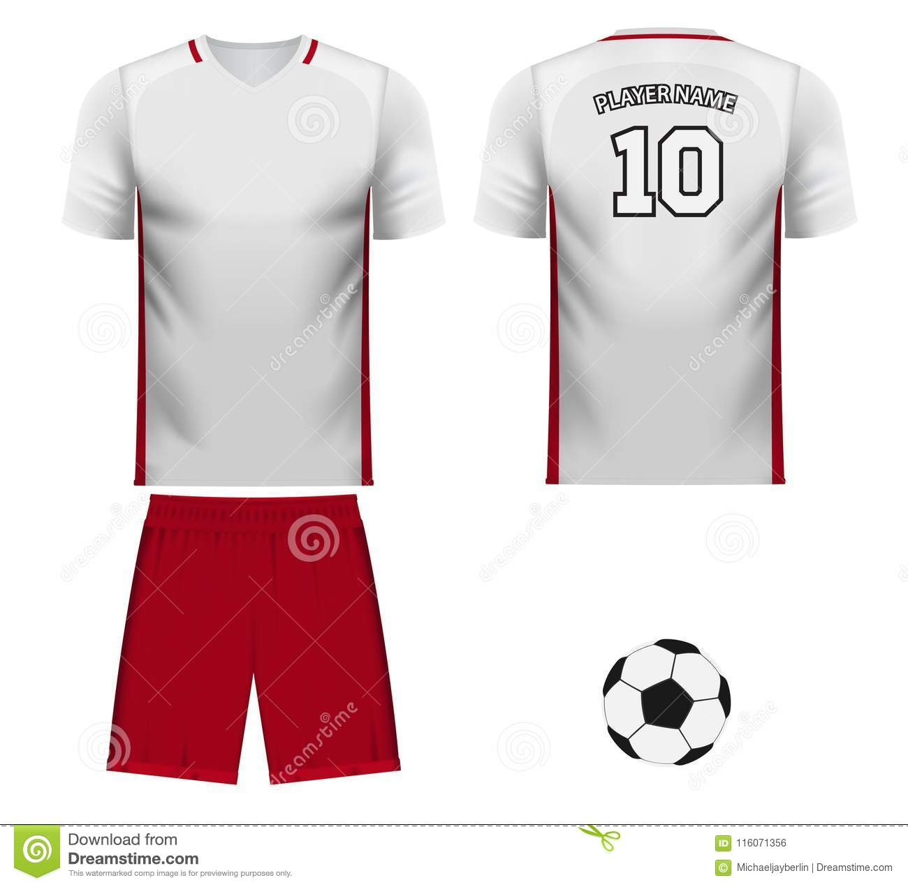 wholesale dealer 9caa8 6f5d3 Poland National Team Jersey Fan Apparel Stock Illustration ...