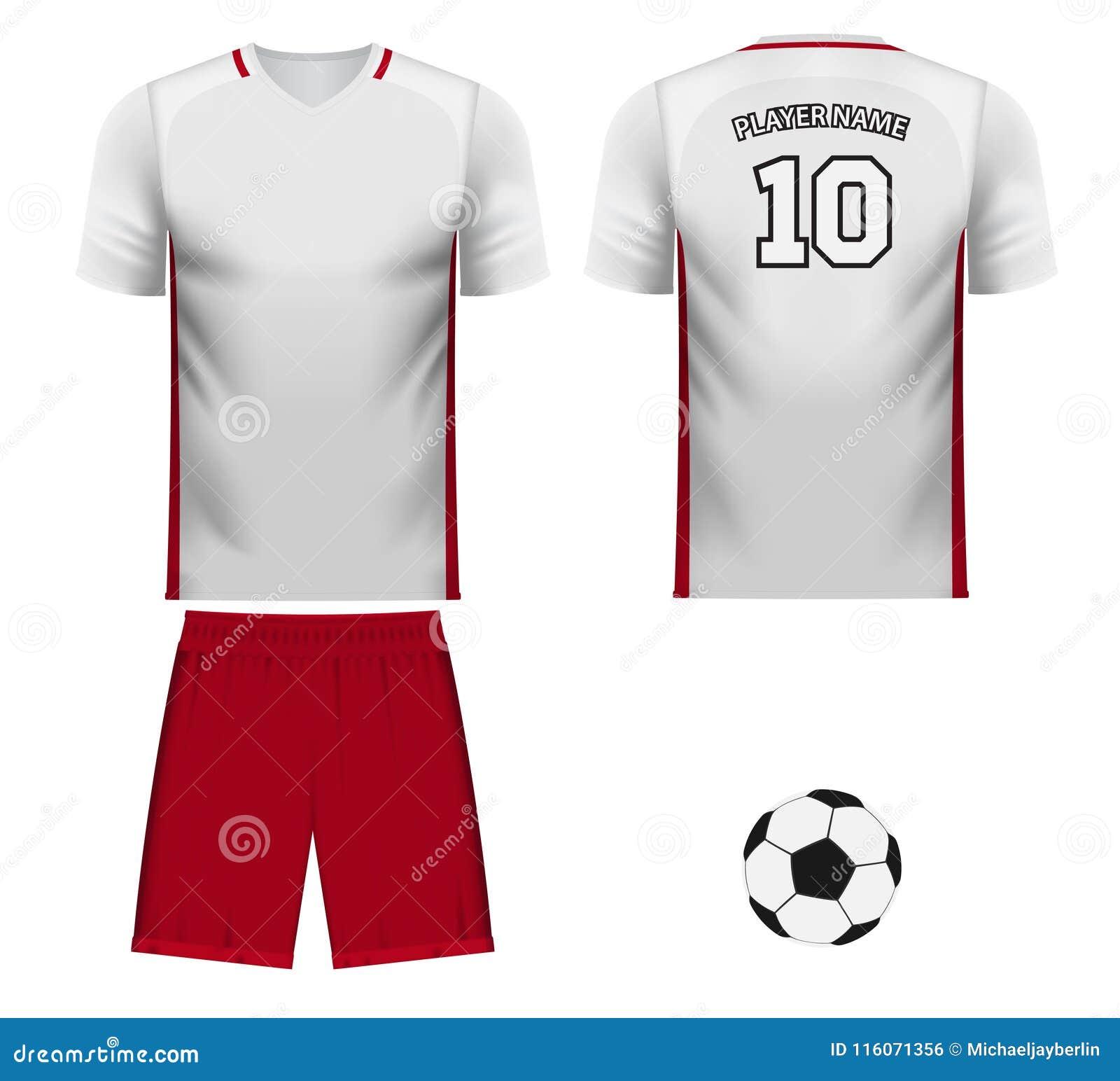 wholesale dealer f57ec 970f5 Poland National Team Jersey Fan Apparel Stock Illustration ...