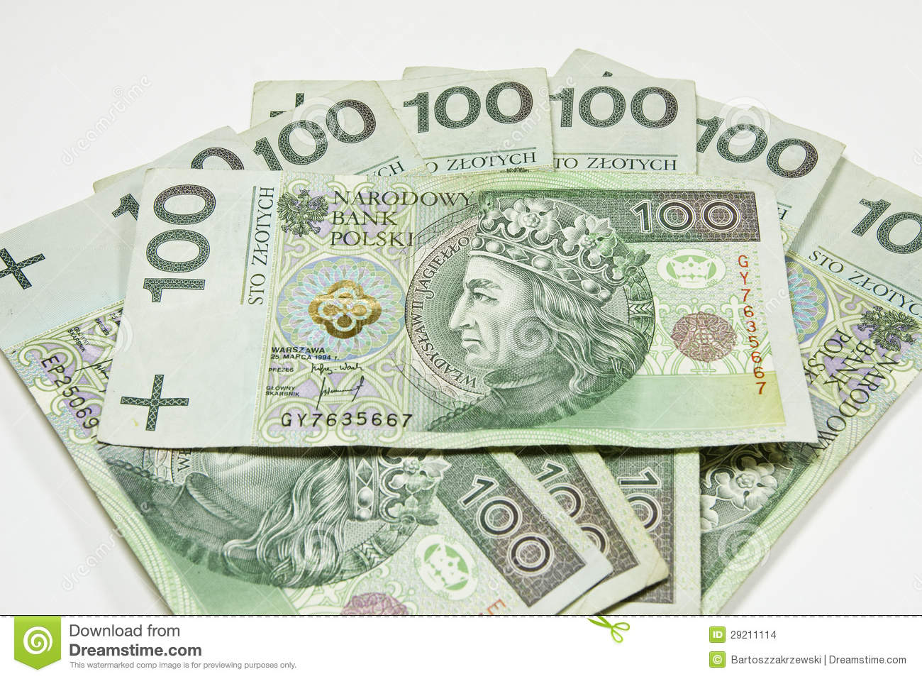 PLN: Poland Currency Zloty - PLN Stock Image